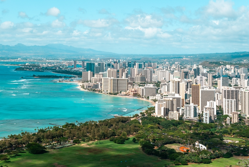 Looking out over Honolulu from the top of Diamond Head 3