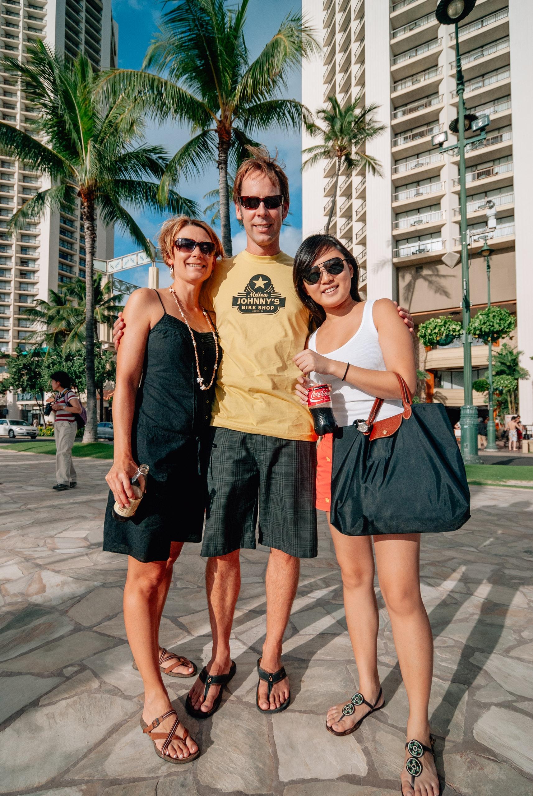 Carey John & Jessica in Waikiki