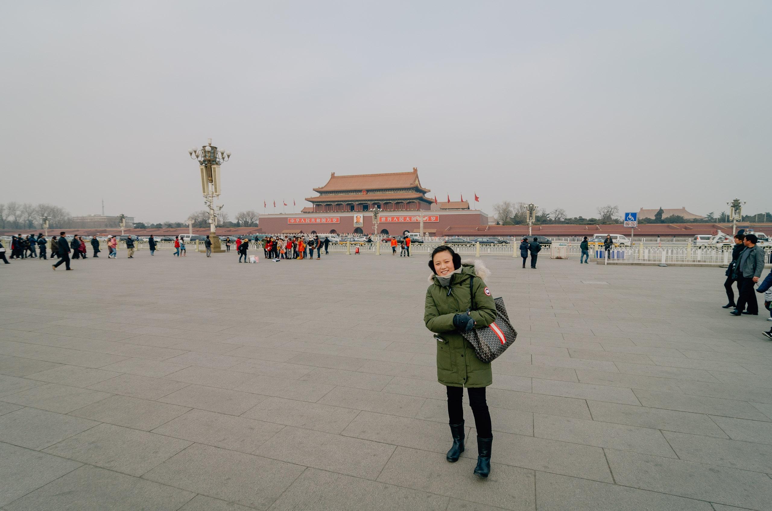 In Tianamen Square Beijing