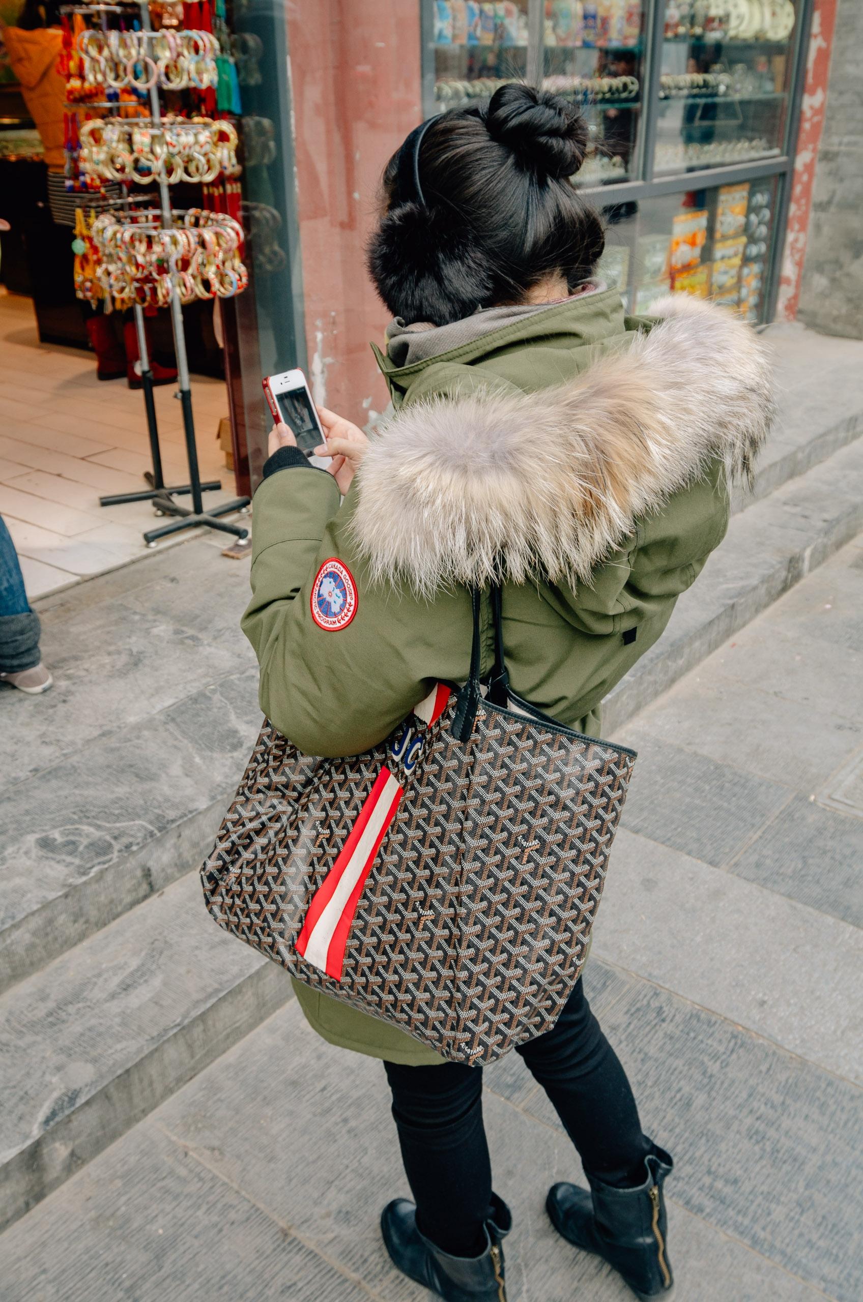 Shopping Outside Tianamen Square Beijing