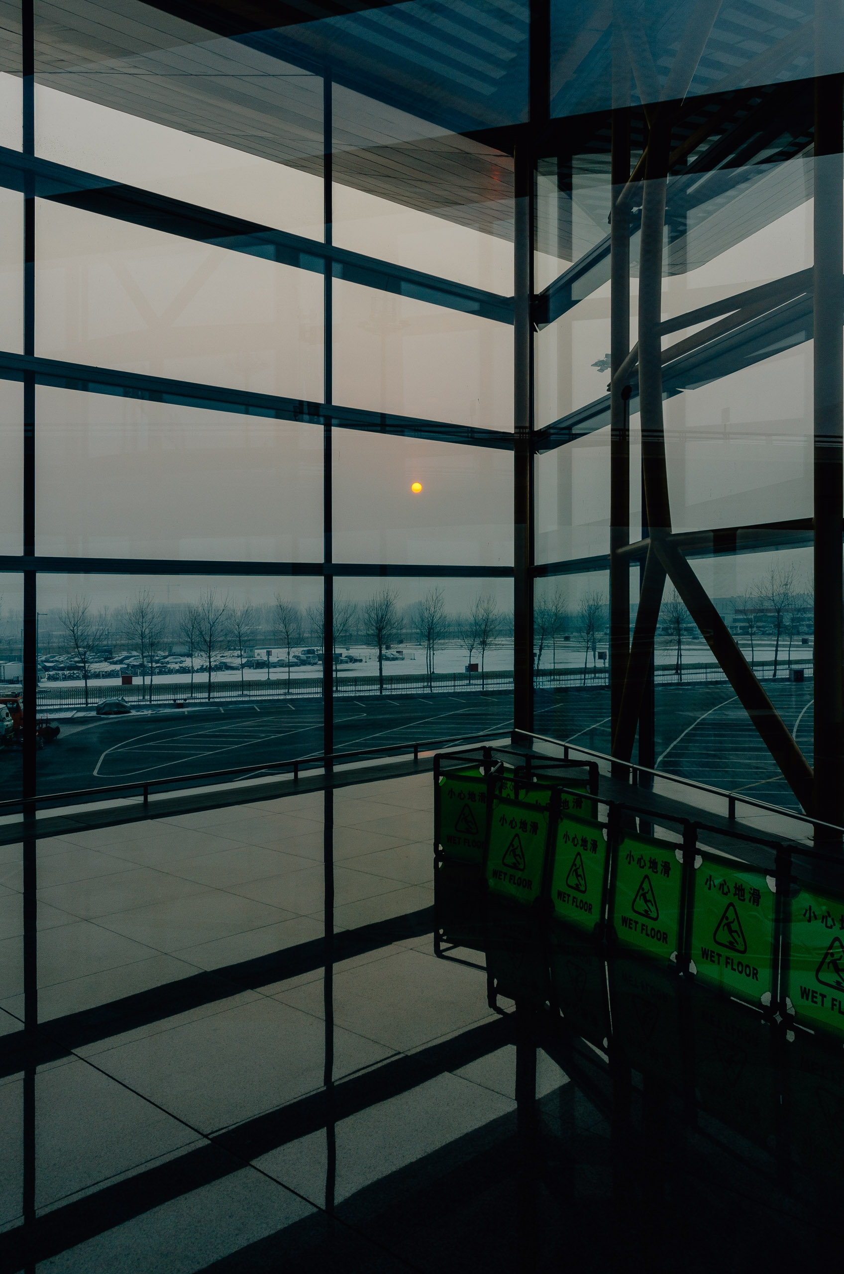 Sunset at the Beijing Airport