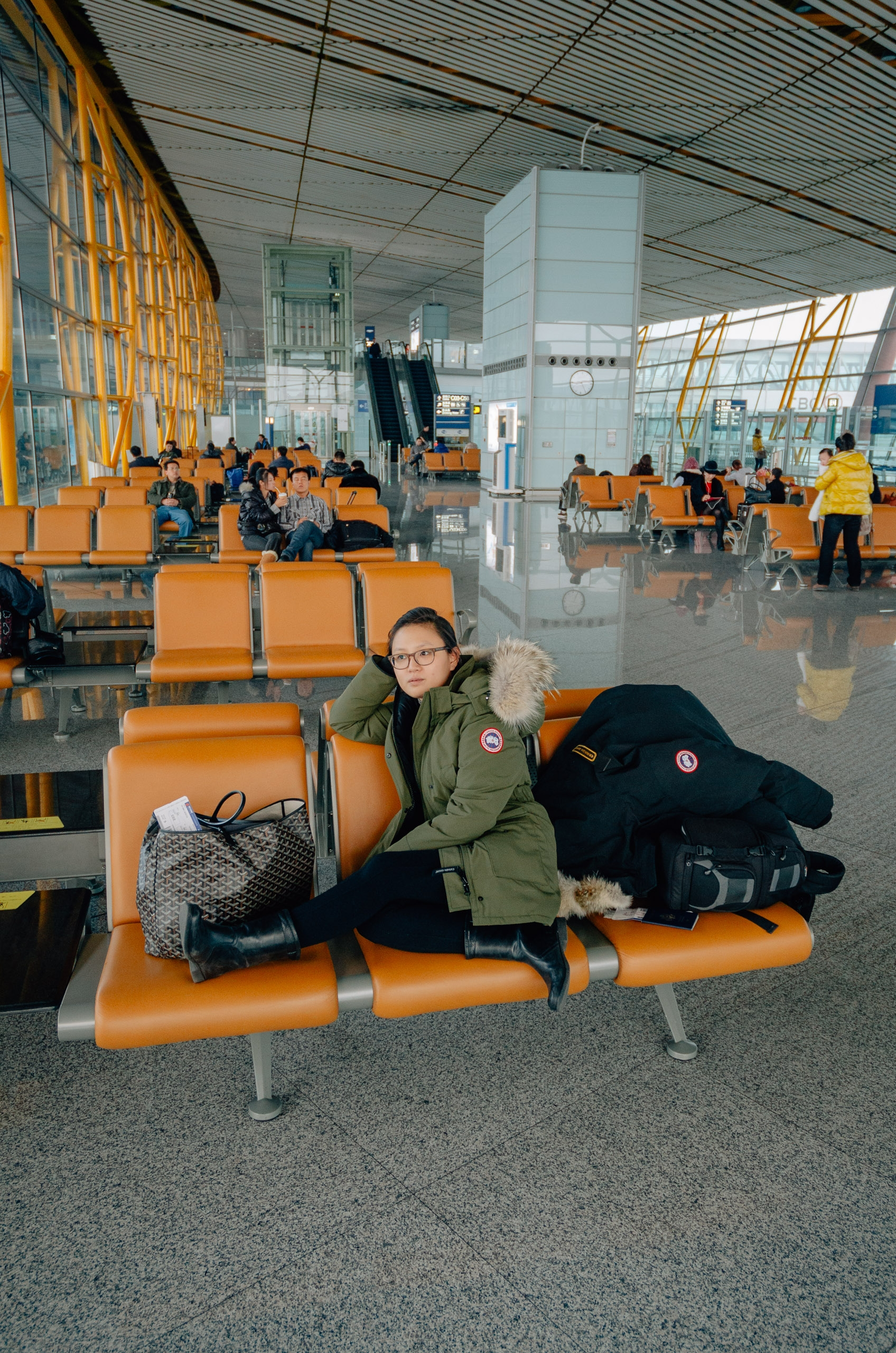 Waiting at the Beijing Airport