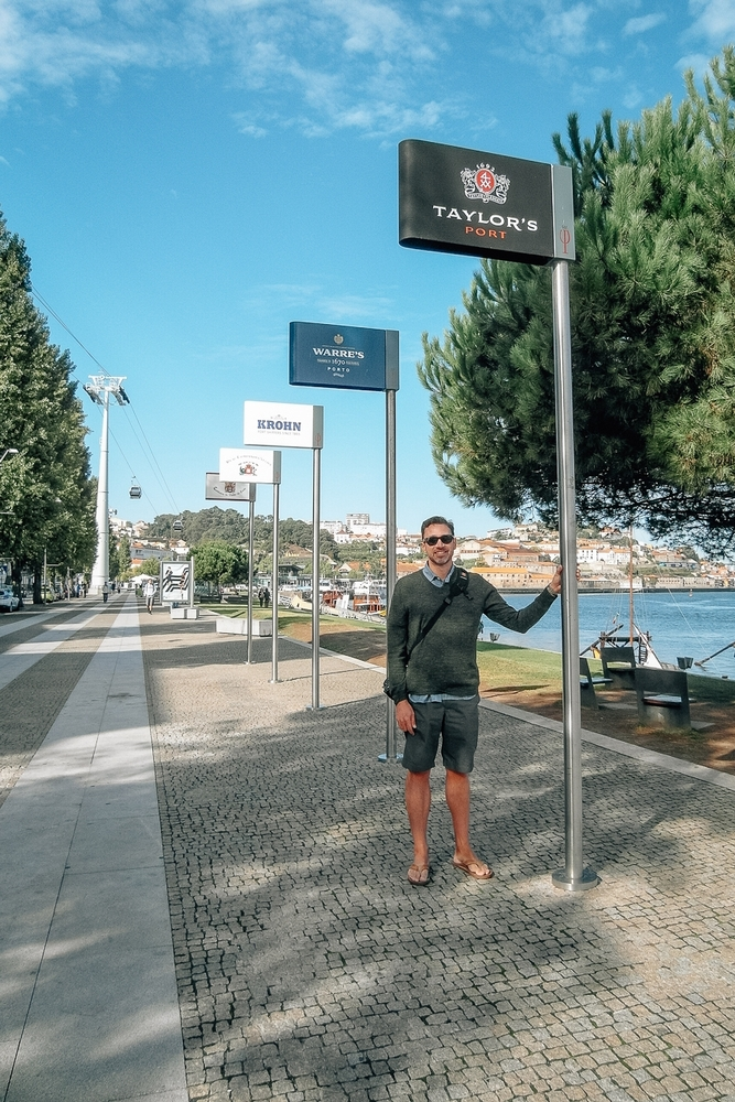 With the Port Signs on the Douro River
