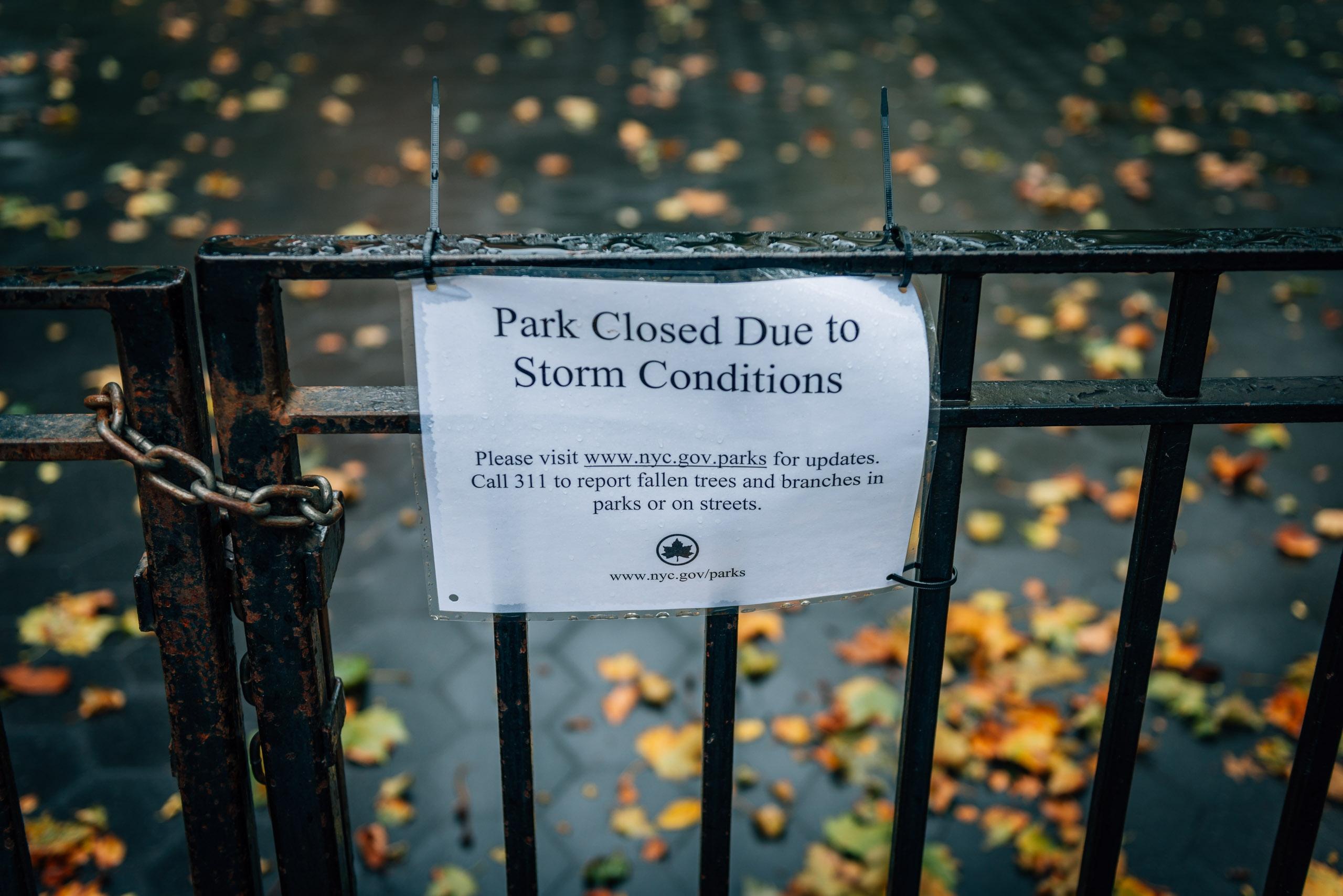 Park Closed