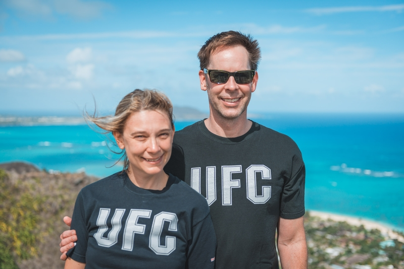 Carey & John Atop the Pillbox Trail