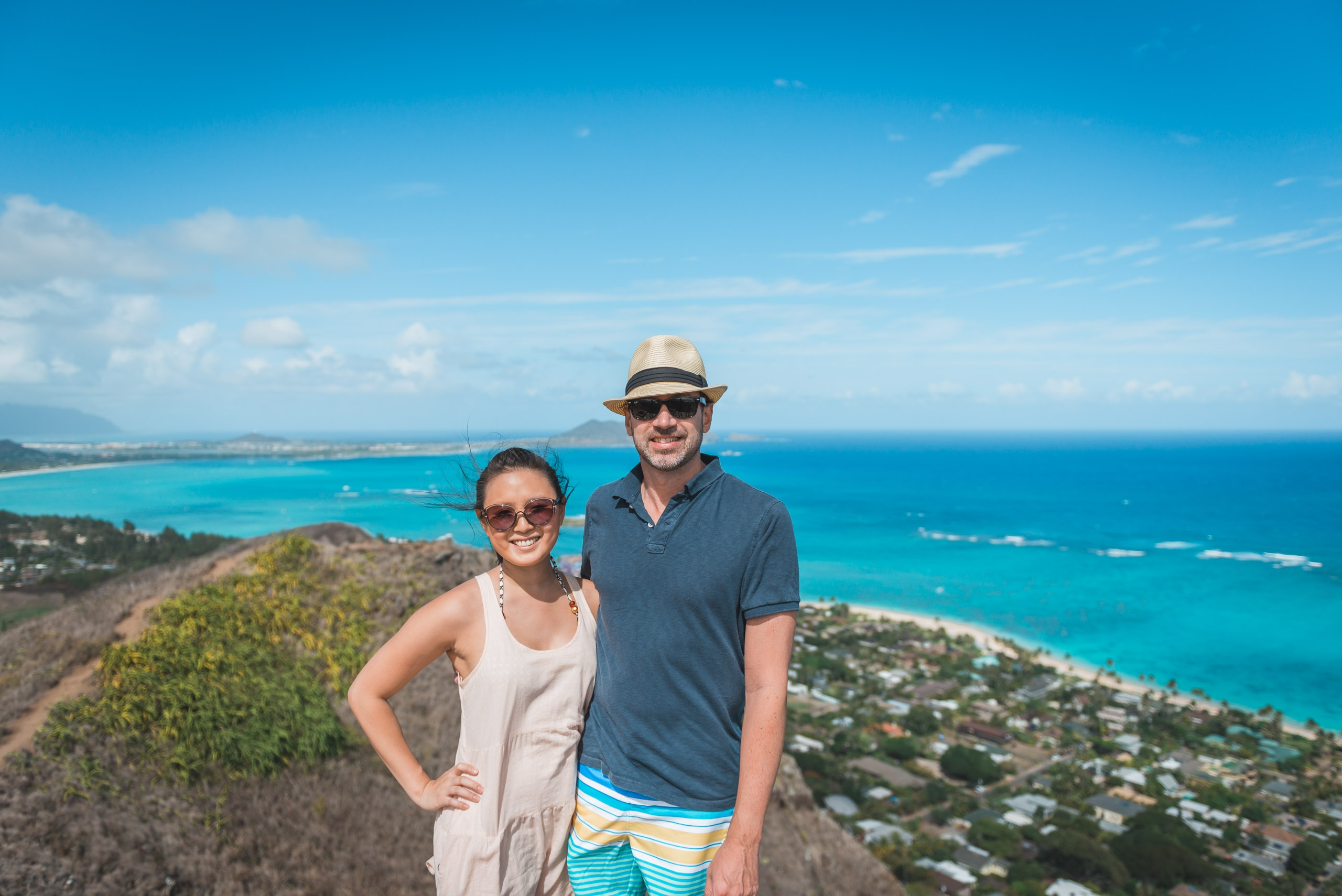 Jessica & Kris Atop the Pillbox Trail - Wide