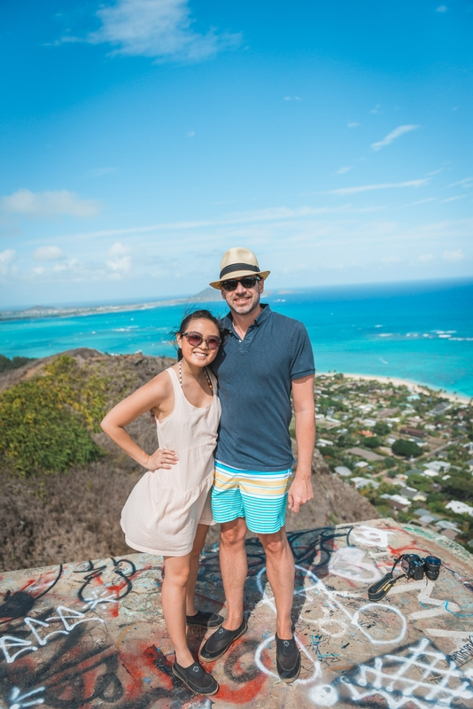 Jessica & Kris Atop the Pillbox Trail