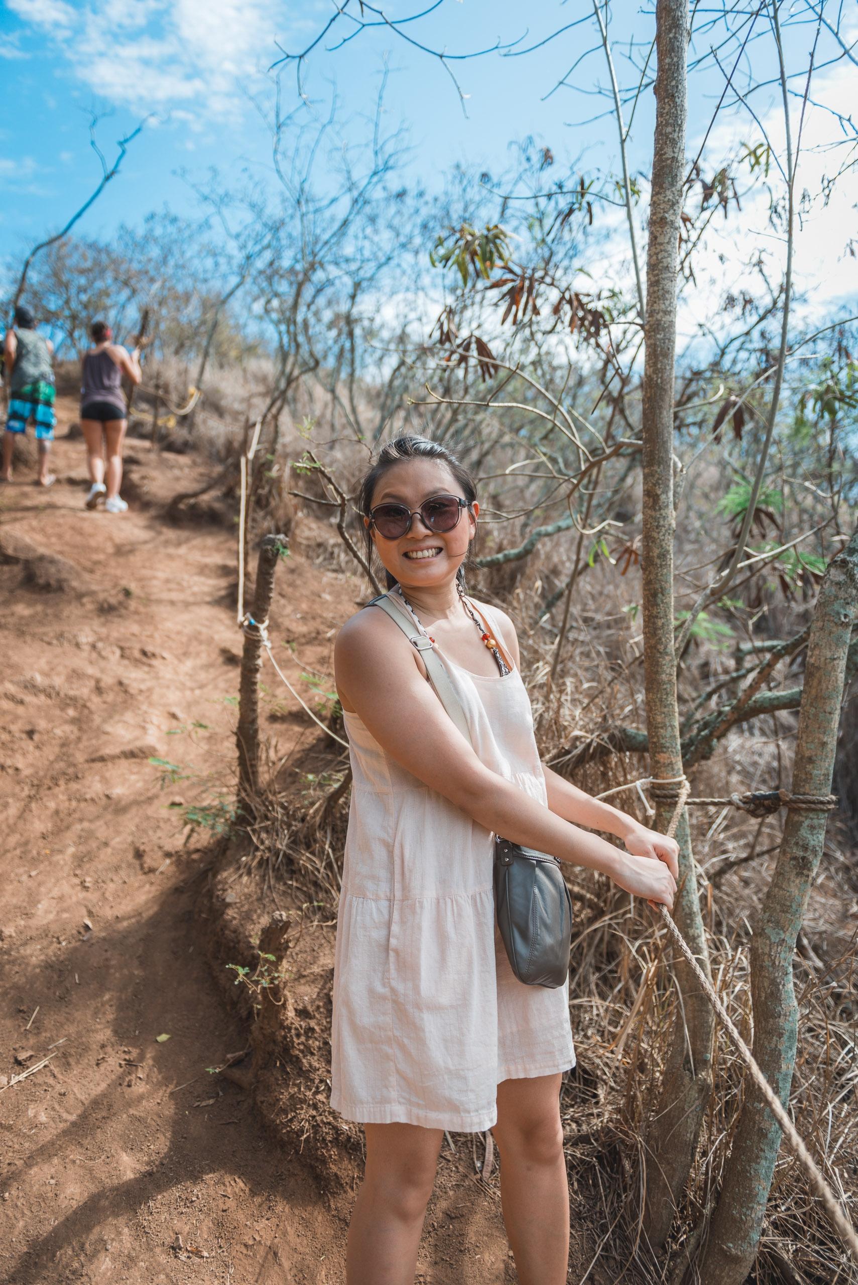 Jessica Descending the Pillbox Trail