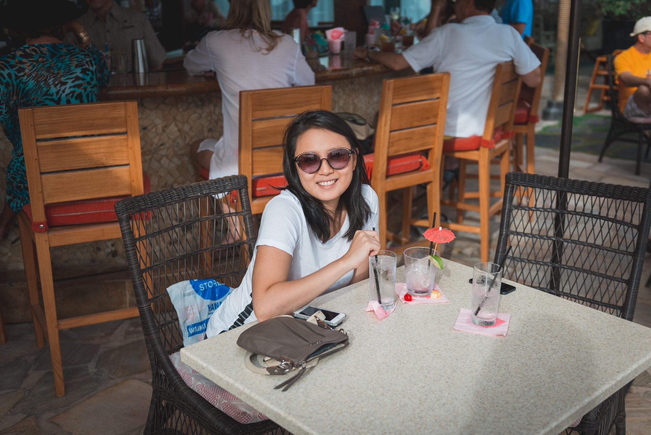 Jessica at the Royal Hawaiian