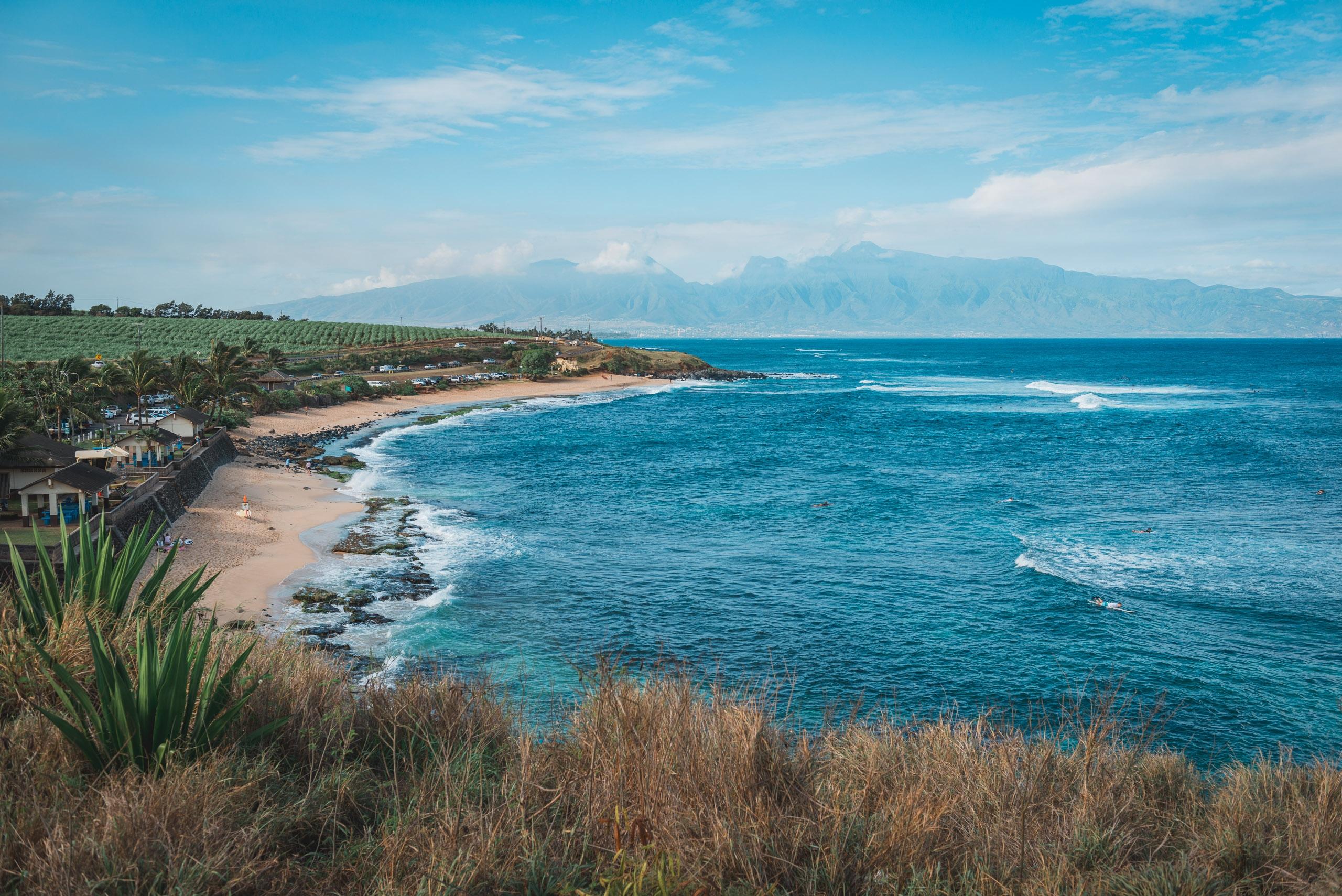Overlooking Ho Okipa Beach