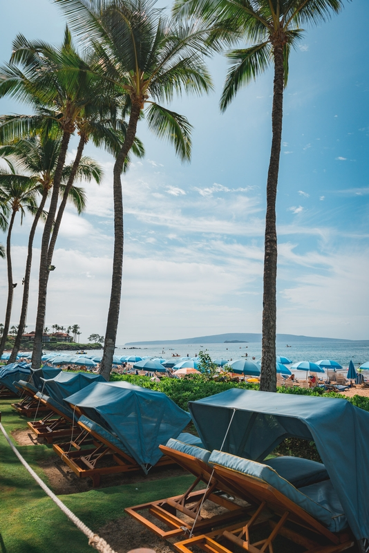 The Beach Cabanas at the Grand Wailea
