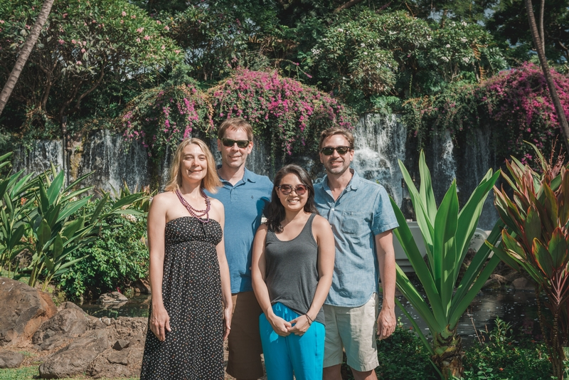 Carey John Jessica & Kris Outside the Grand Wailea