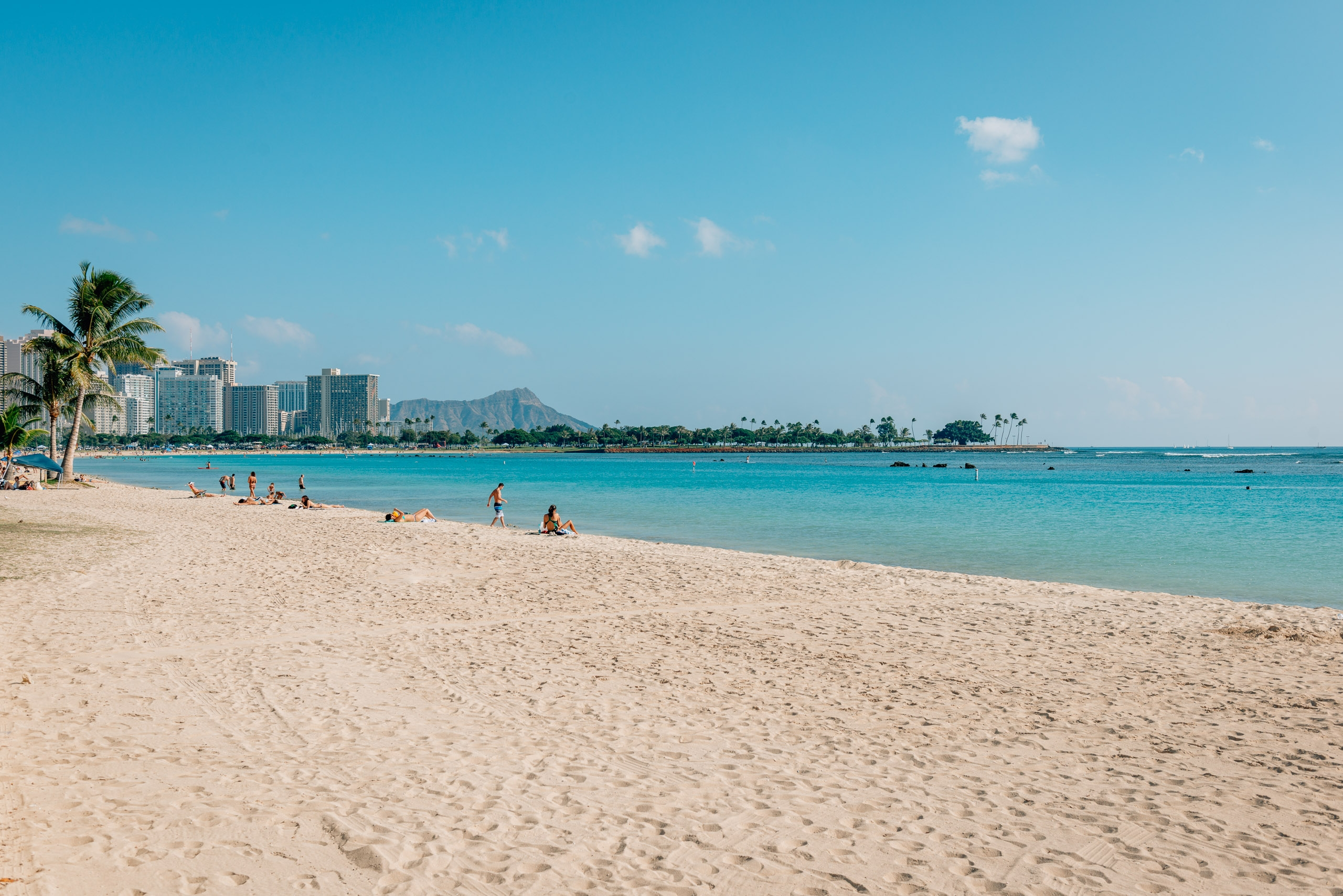 Diamond Head from Alamoana Beach Park