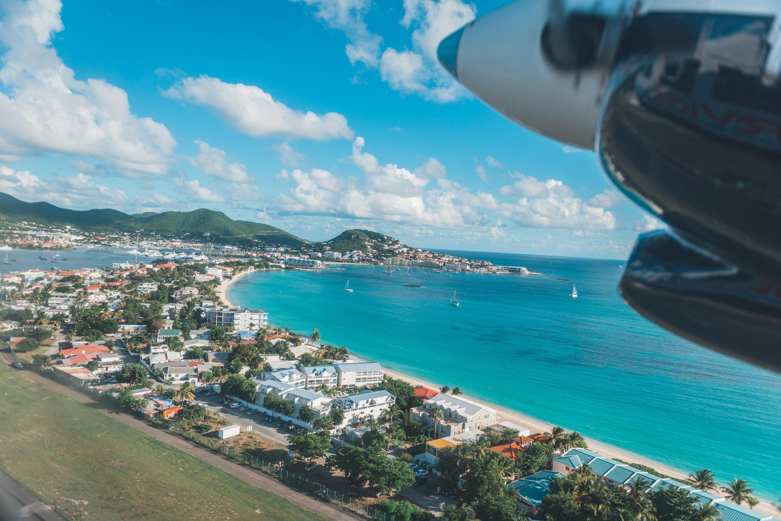 Departing St Maarten
