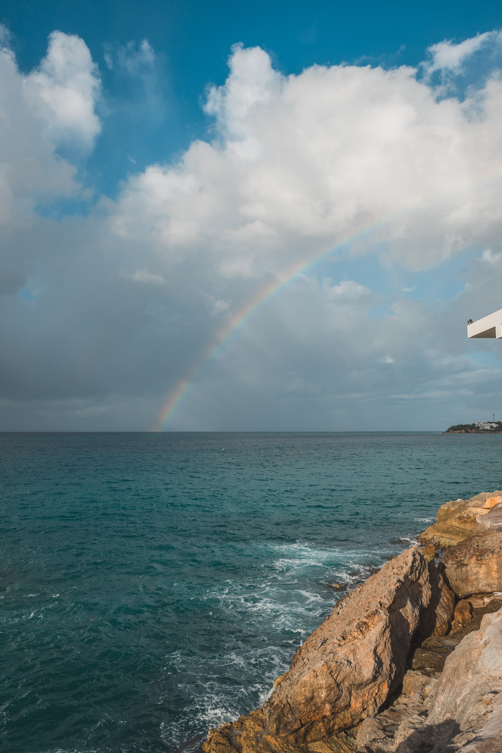 A Rainbow off the Coast of Anguilla