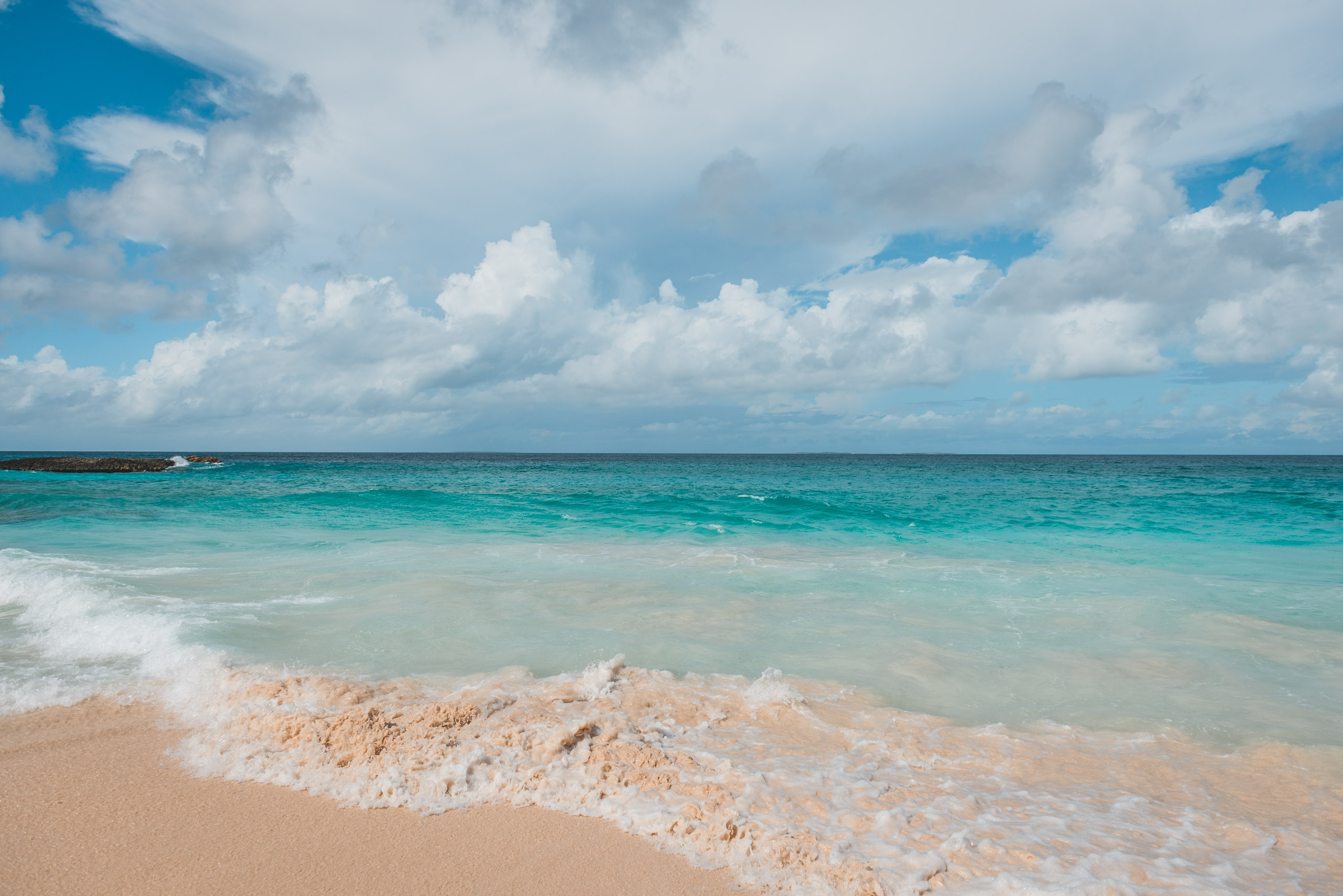 First Day on the Beach in Anguilla
