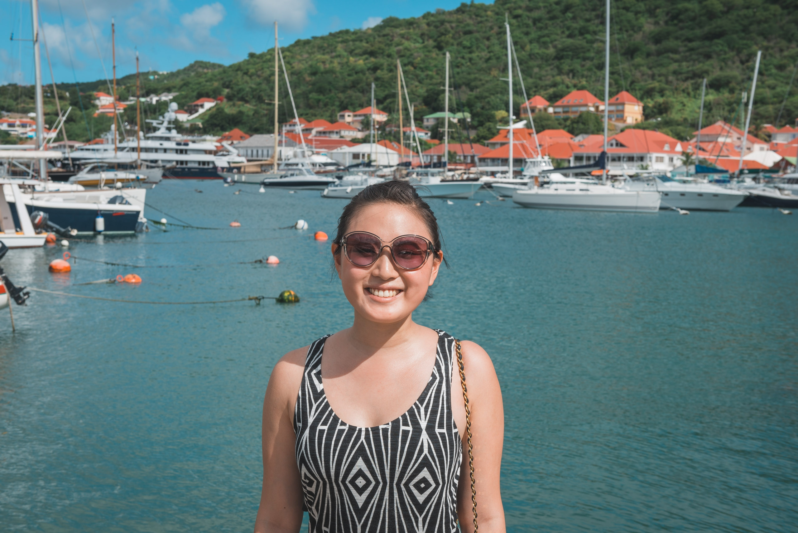 Jessica at Gustavia Harbor
