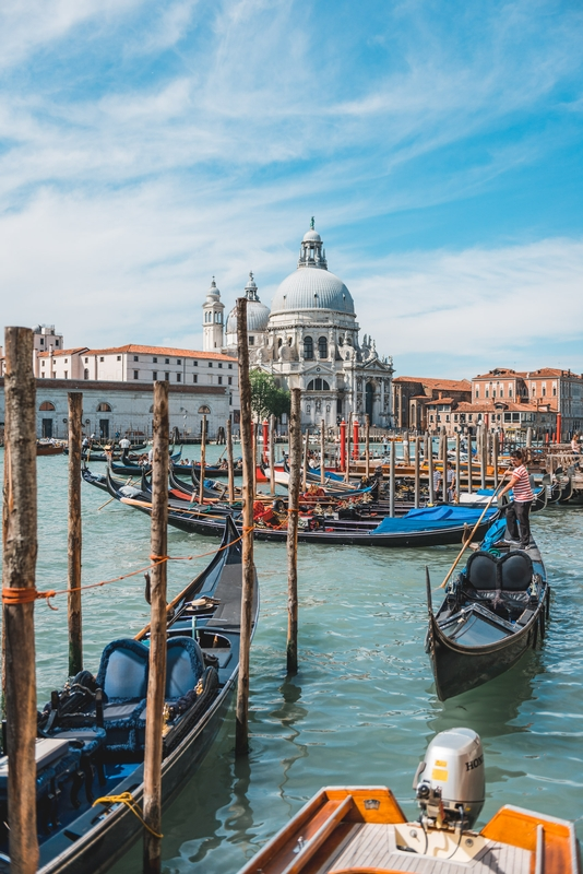 The Grand Canal and the Santa Maria Della Salute Church