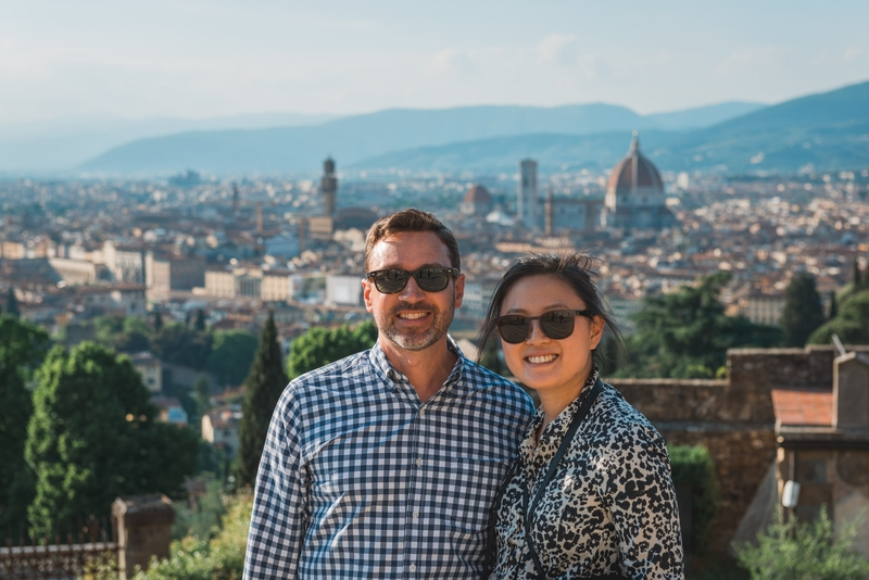 Kris and Jessica Overlooking Florence