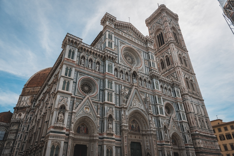 Outside the Florence Cathedral
