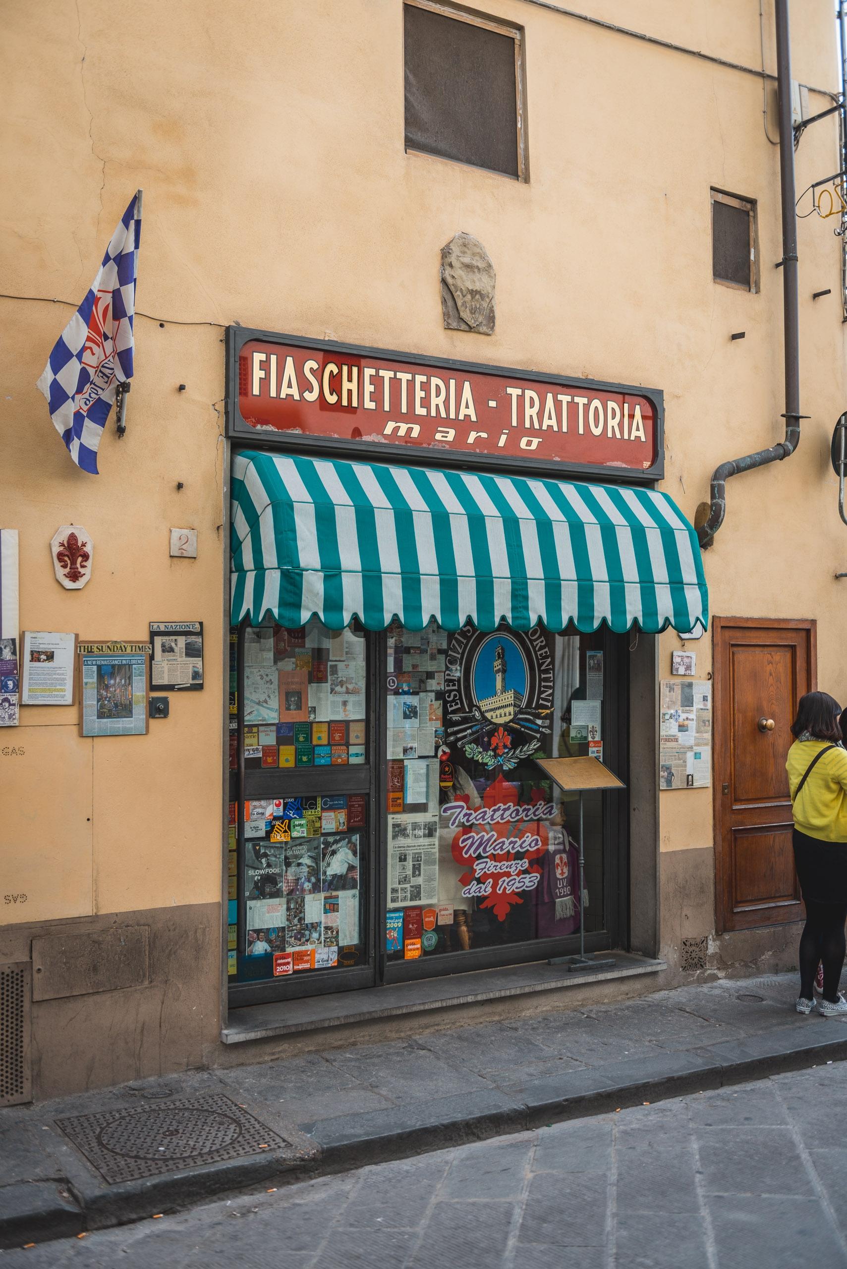 Outside Trattoria Mario
