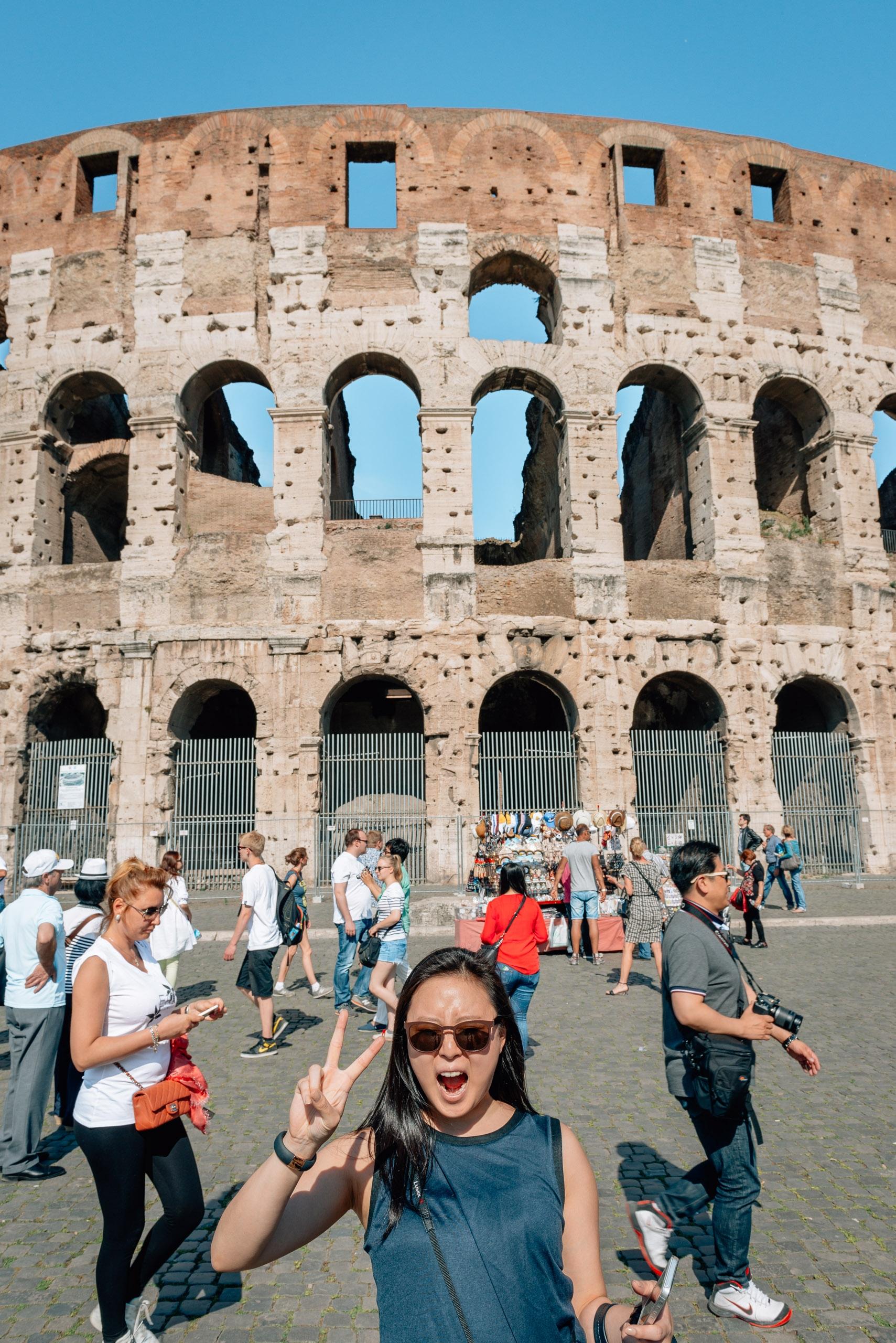 Jessica Enjoys the Colosseum