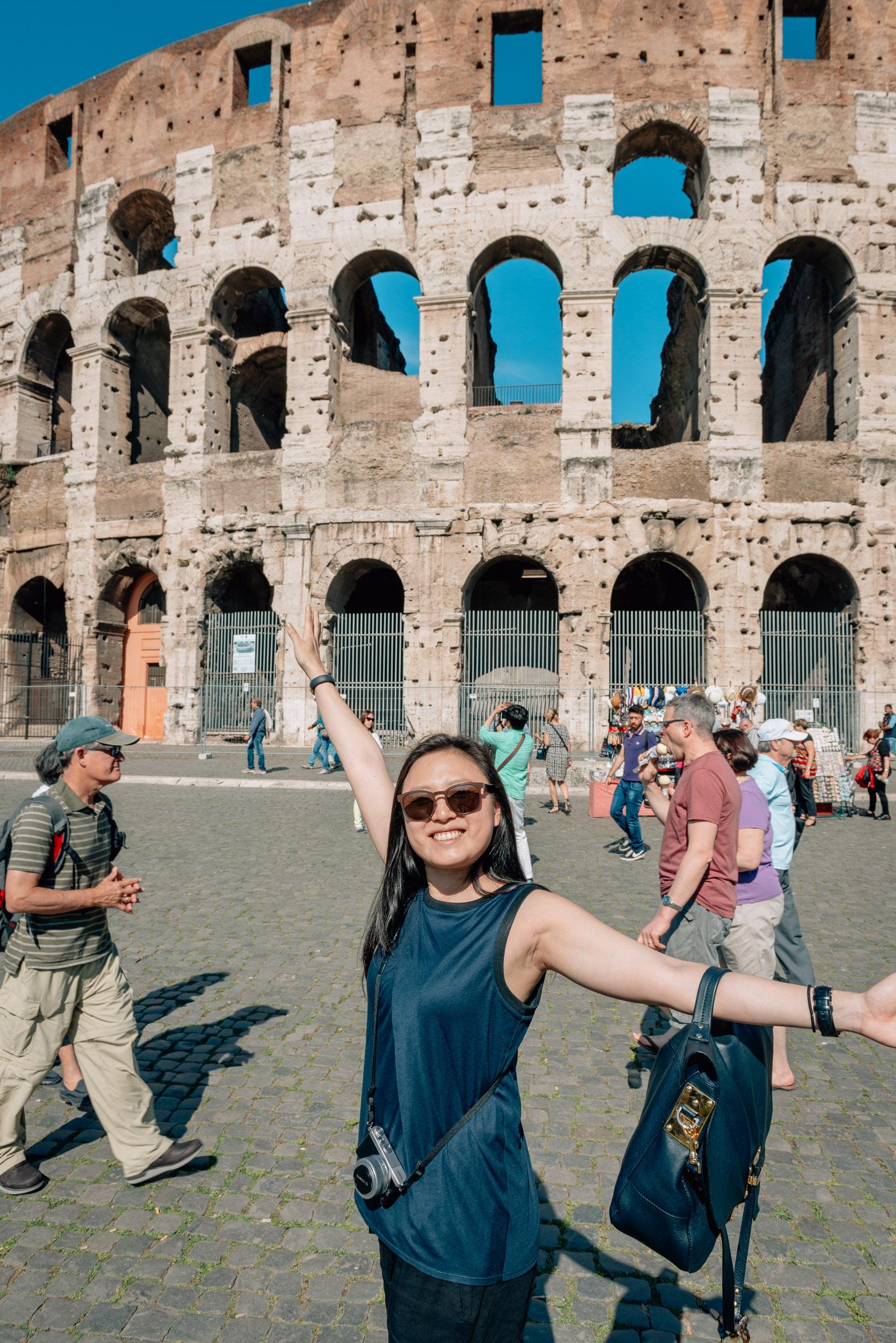 Jessica Still Enjoys the Coloseum