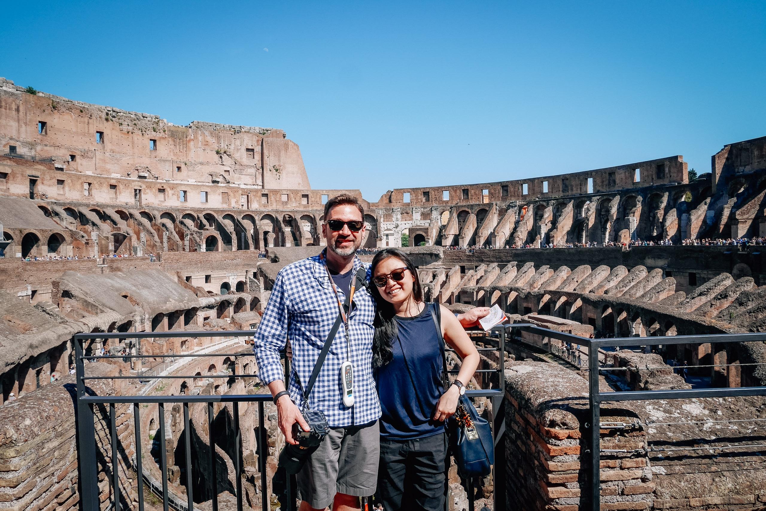 Kris and Jessica Inside the Colosseum