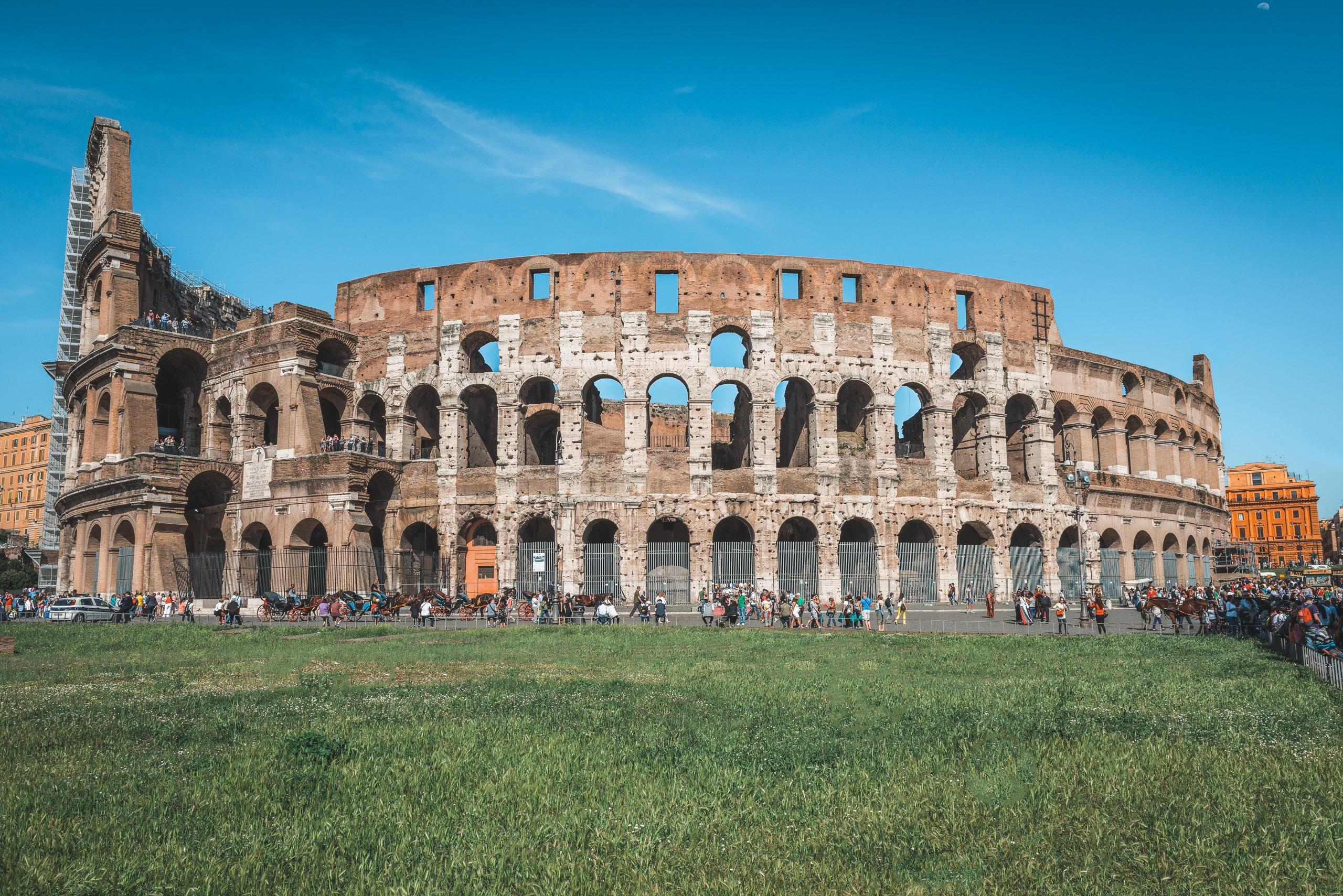 Outside the Colosseum 3