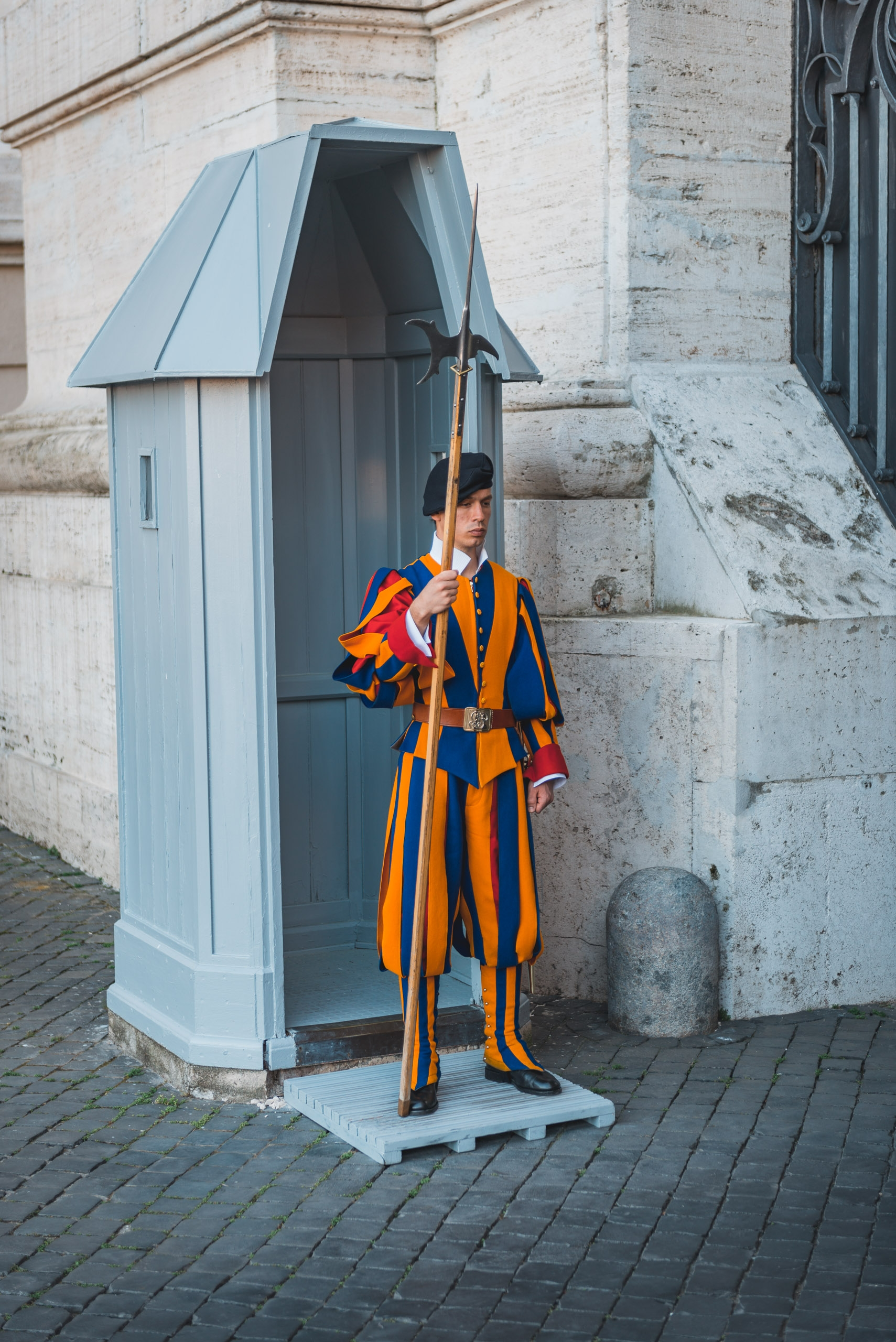 The Swiss Guard Outside St Peters Basilica 2