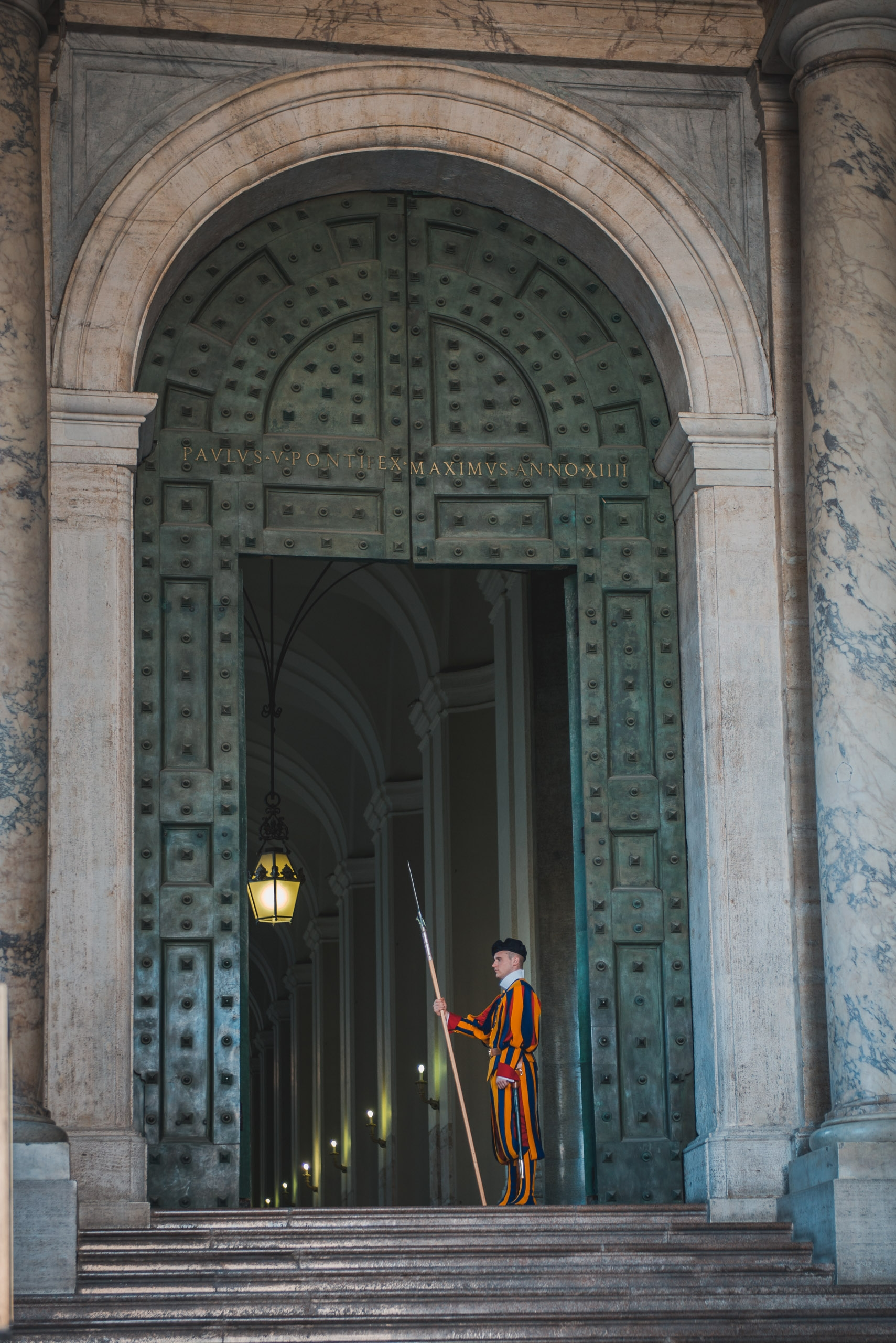 The Swiss Guard Outside St Peters Basilica