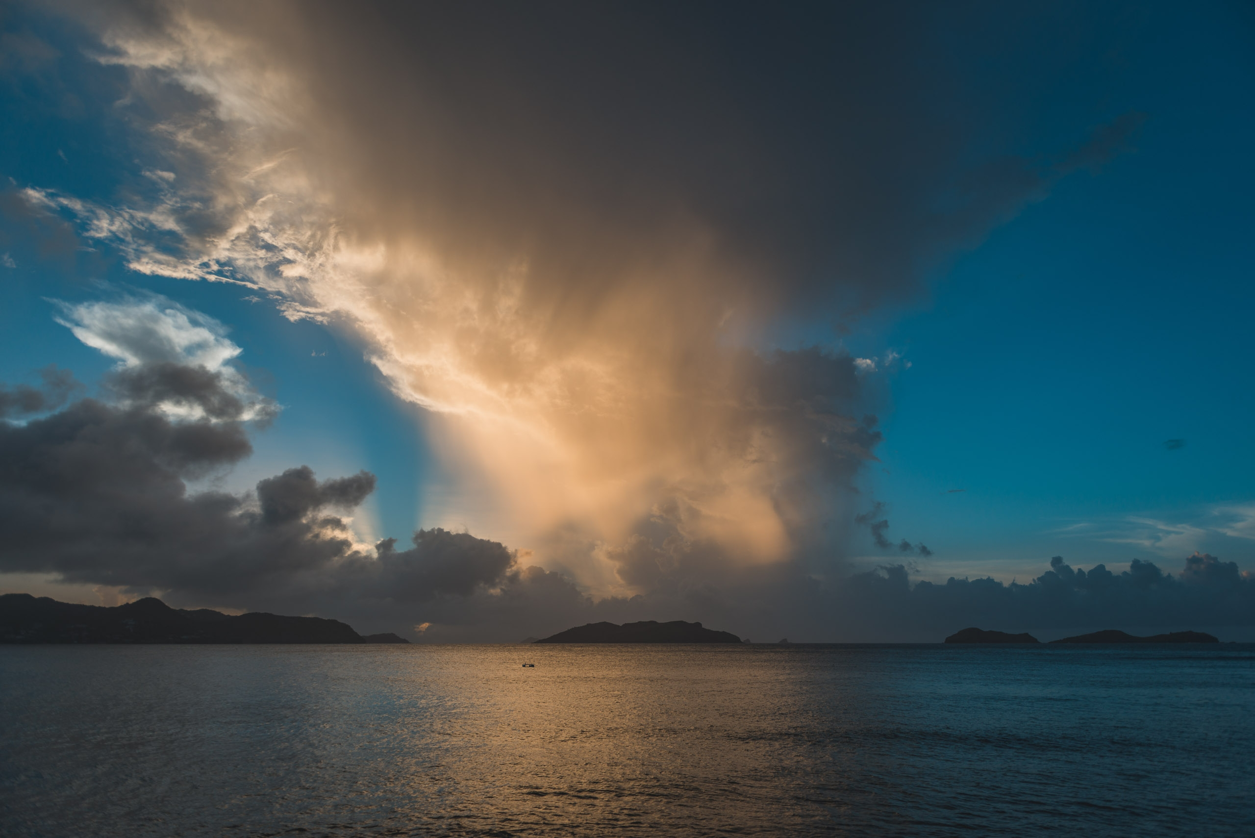 A Stormy Sunset over St Bart