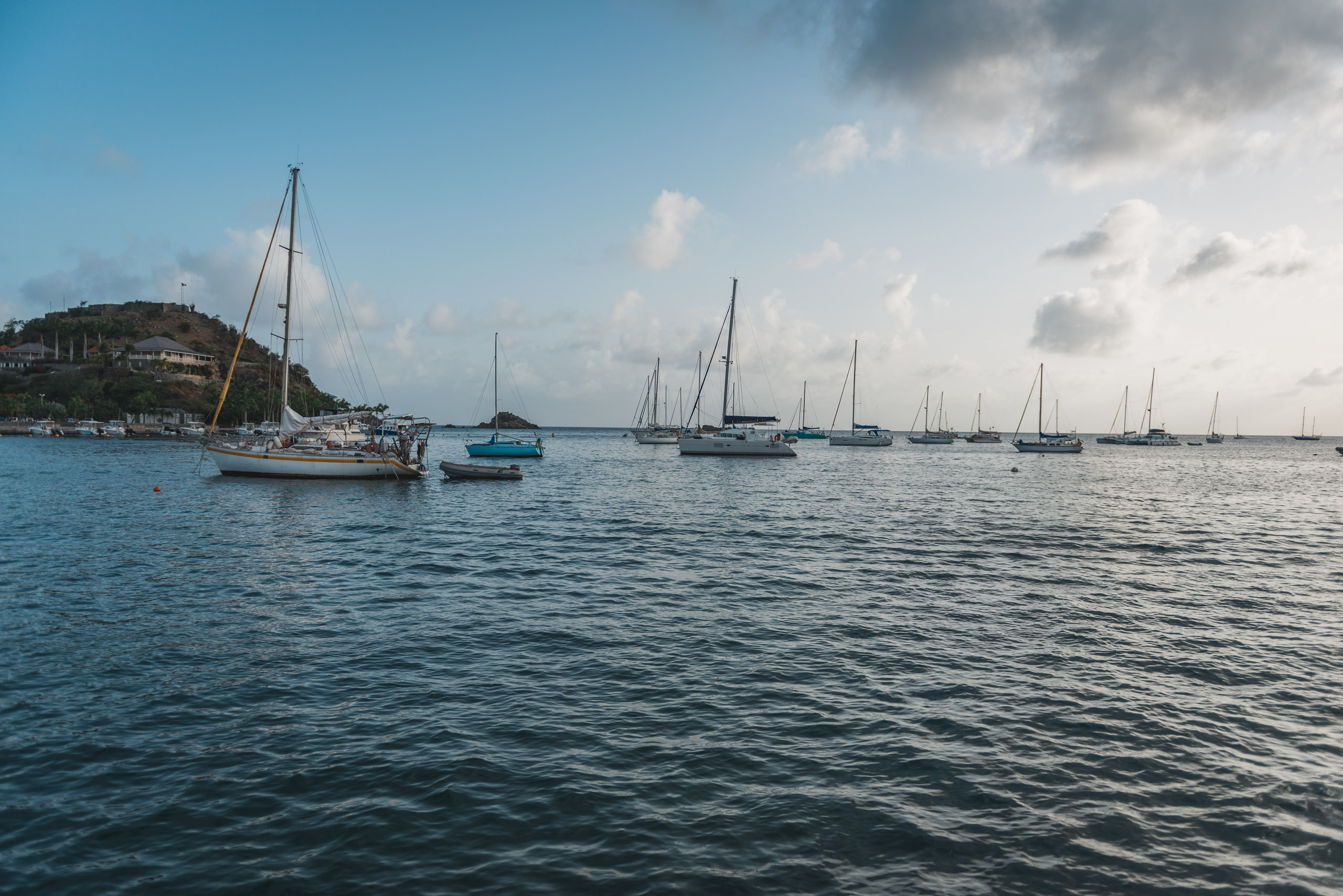 Gustavia Harbor at Sunset