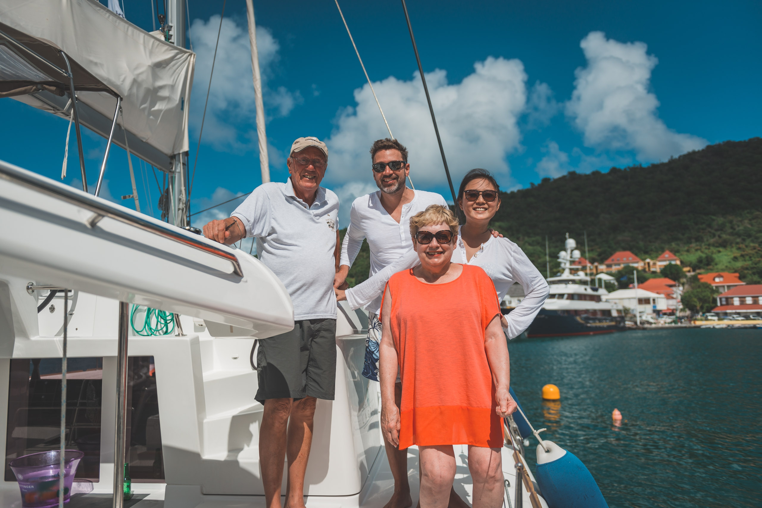 The Whole Crew at Gustavia Harbor