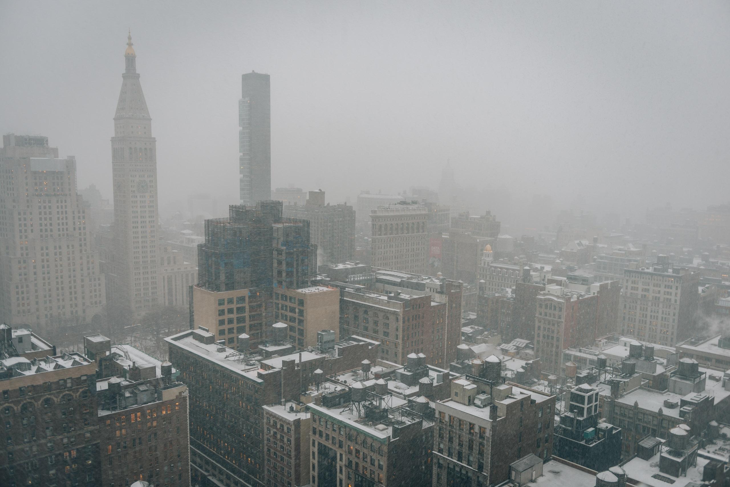 A Snowy Day over Flatiron