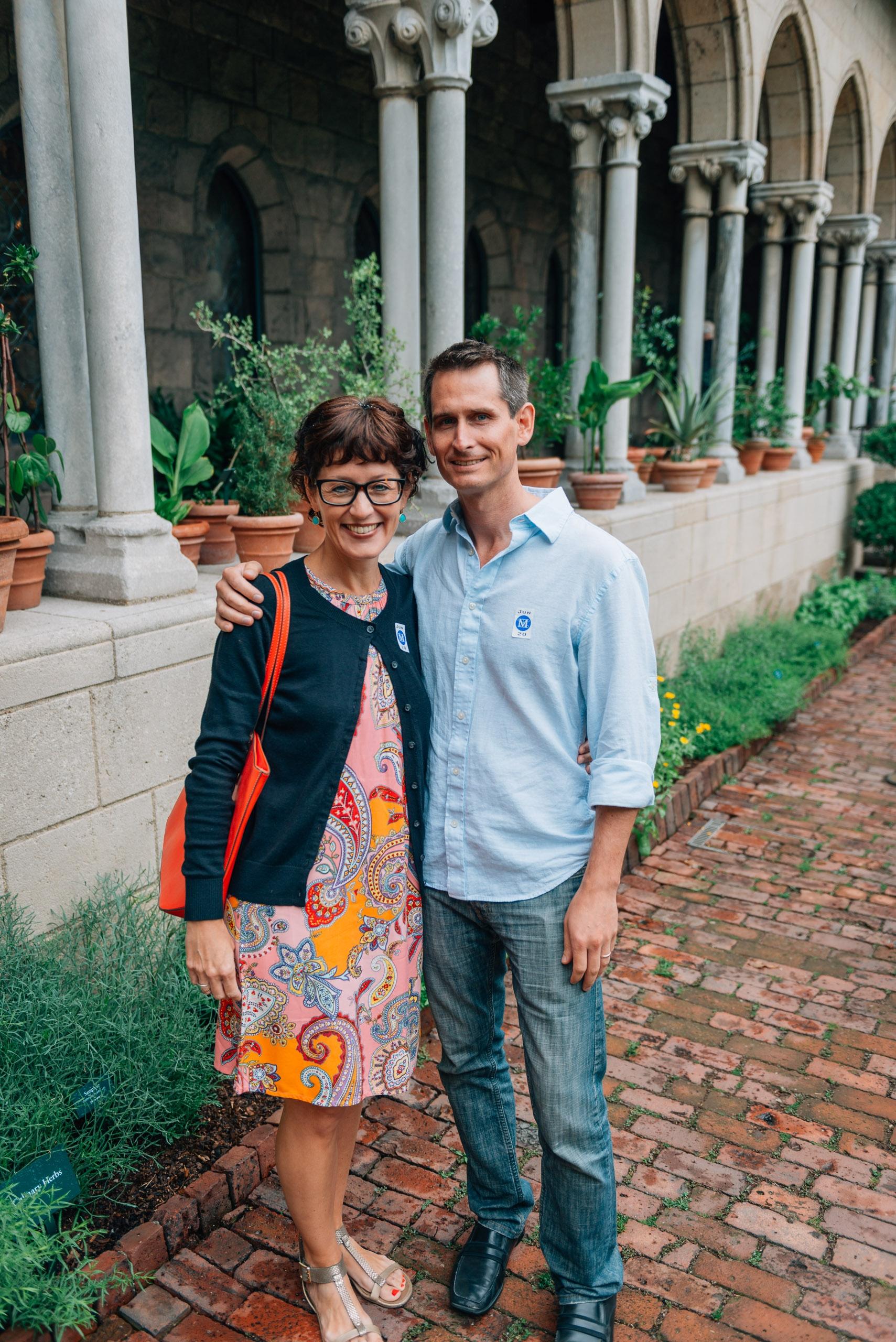 Caroline and Scott in the Garden Courtyard