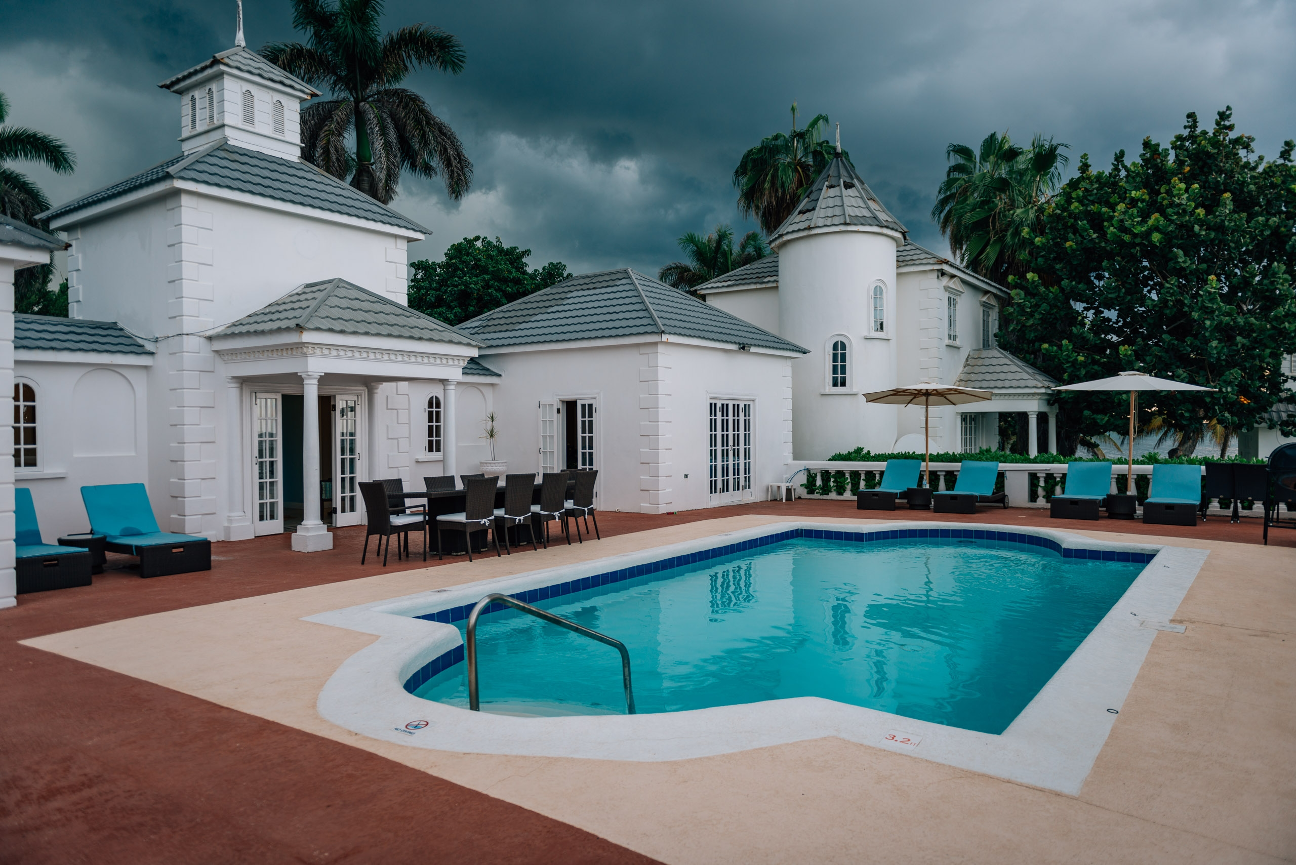 A Storm Approaches the Villa in Jamaica