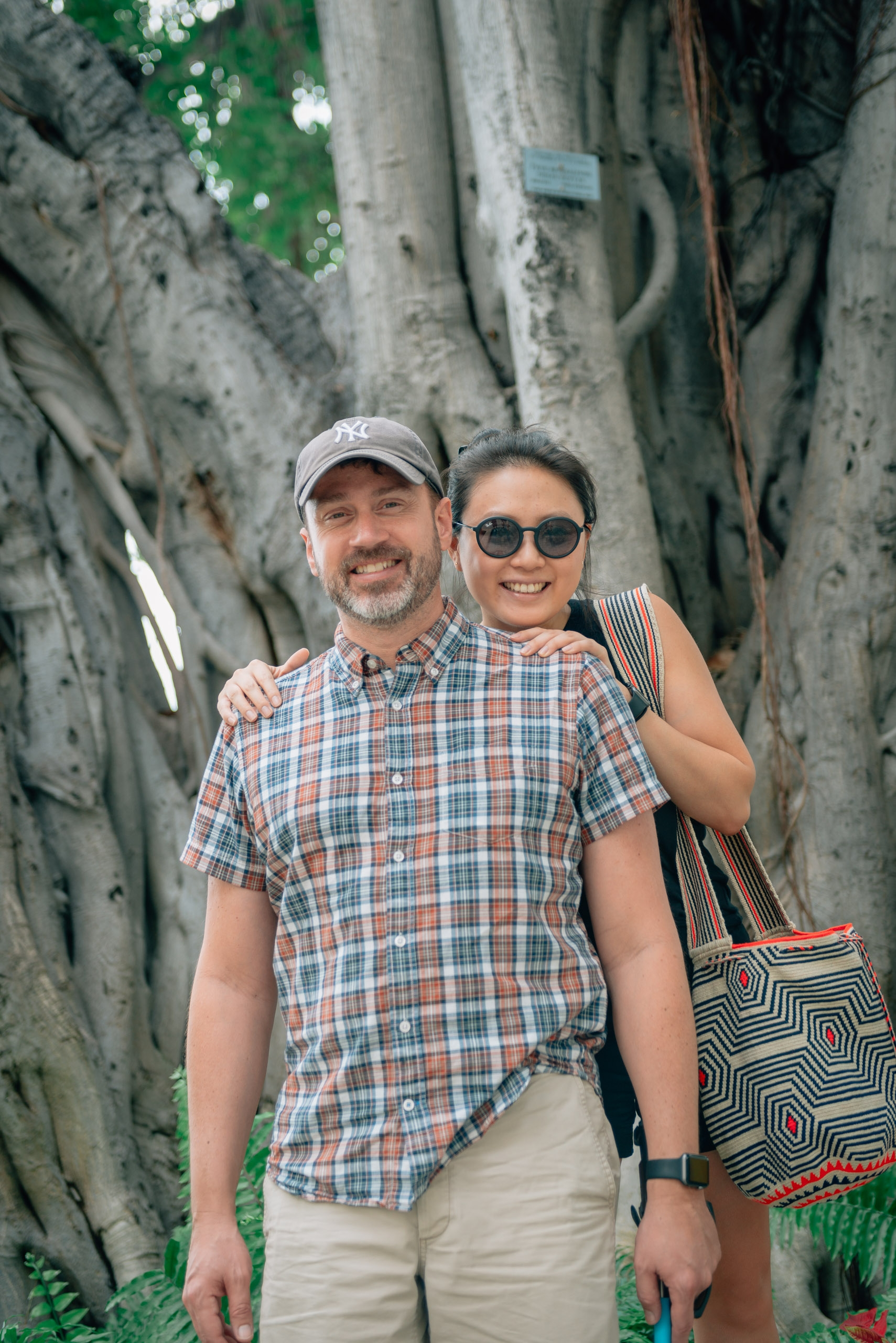 Kris and Jessica at the Moana Surfrider Banyan Tree 2