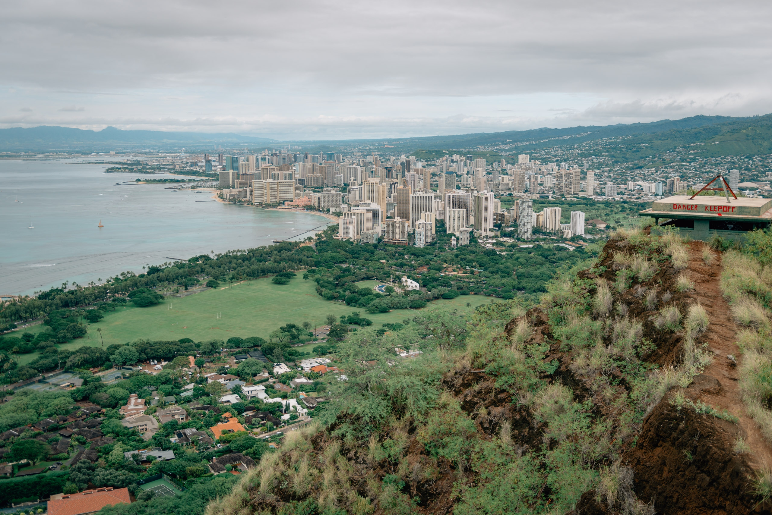 The View from the Top of Diamond Head