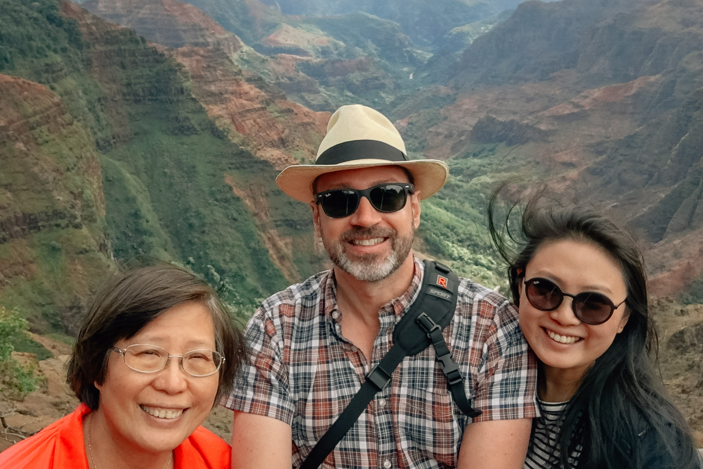 Deborah Kris and Jessica at Waimea Canyon