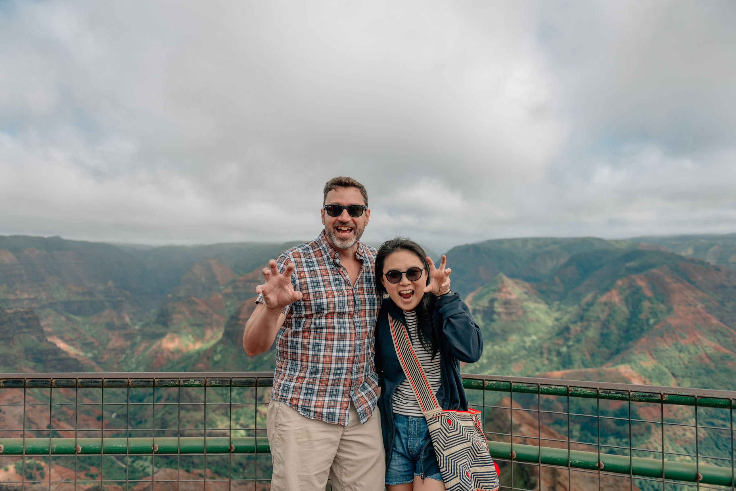 Kris and Jessica Atop Waimea Canyon 2