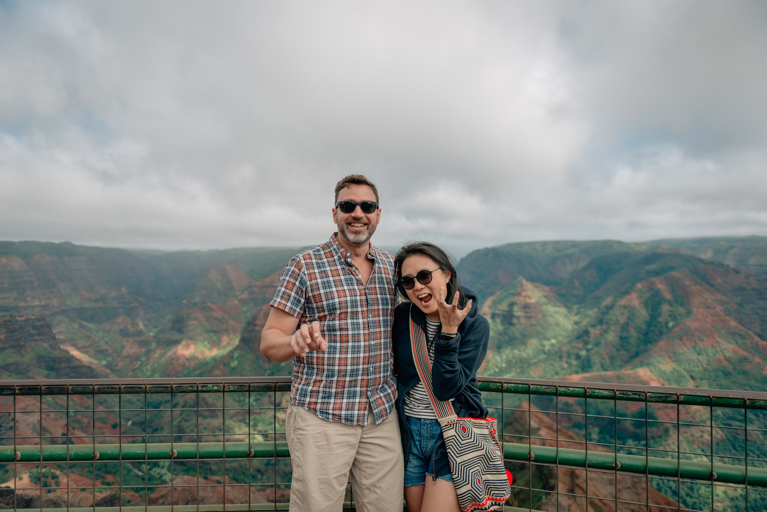 Kris and Jessica Atop Waimea Canyon 3