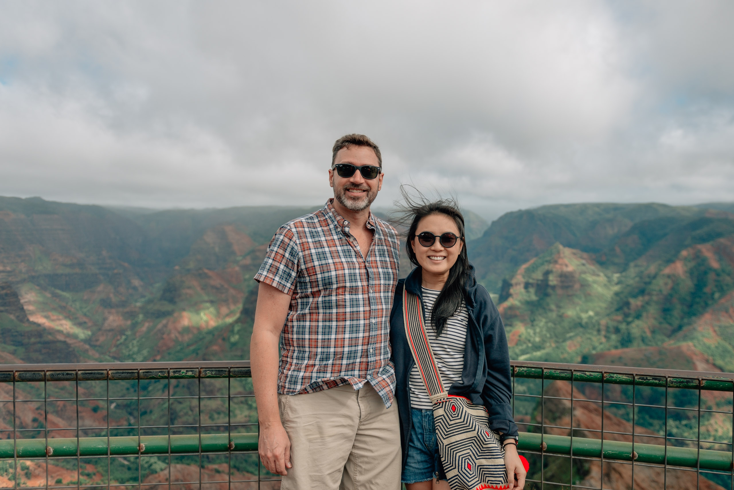 Kris and Jessica Atop Waimea Canyon