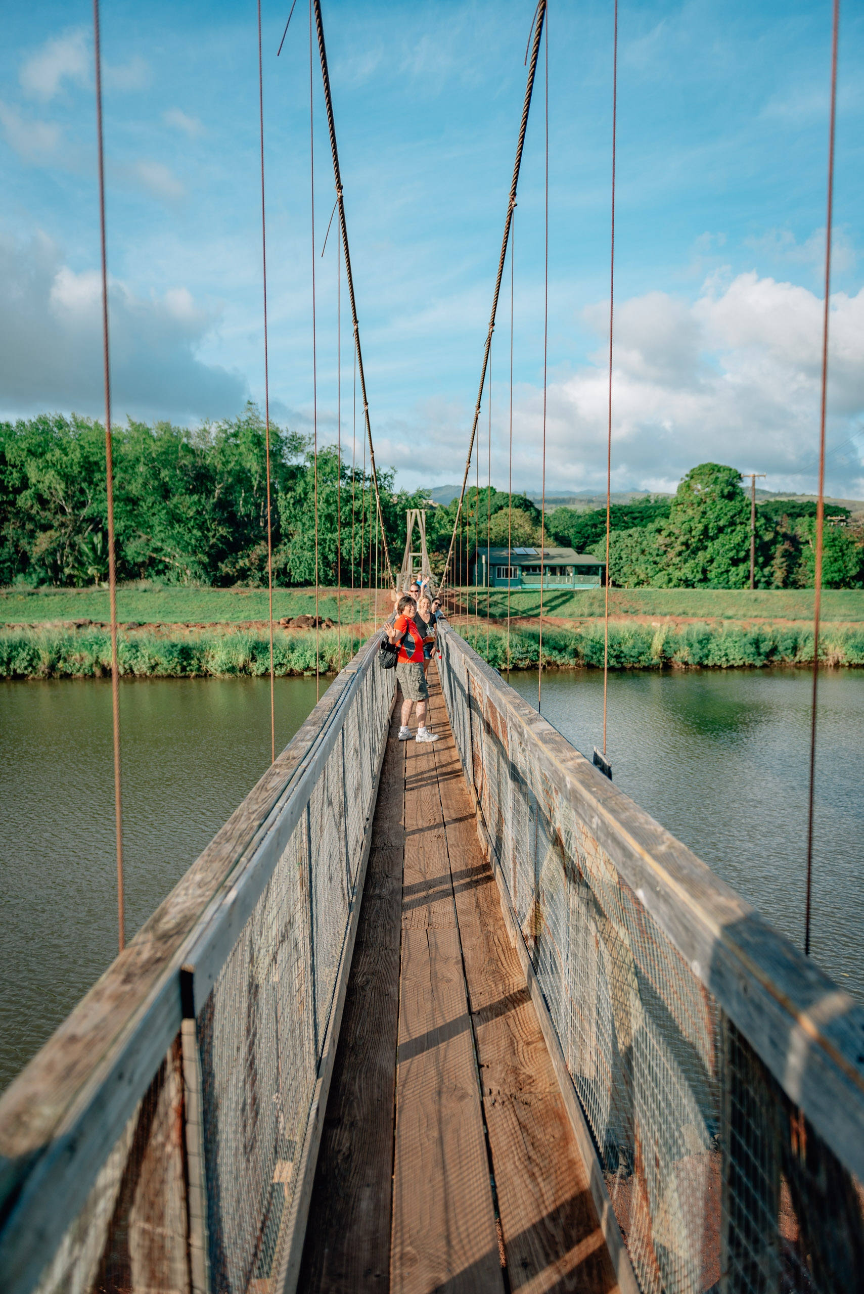 On the Hanapepe Swinging Bridge