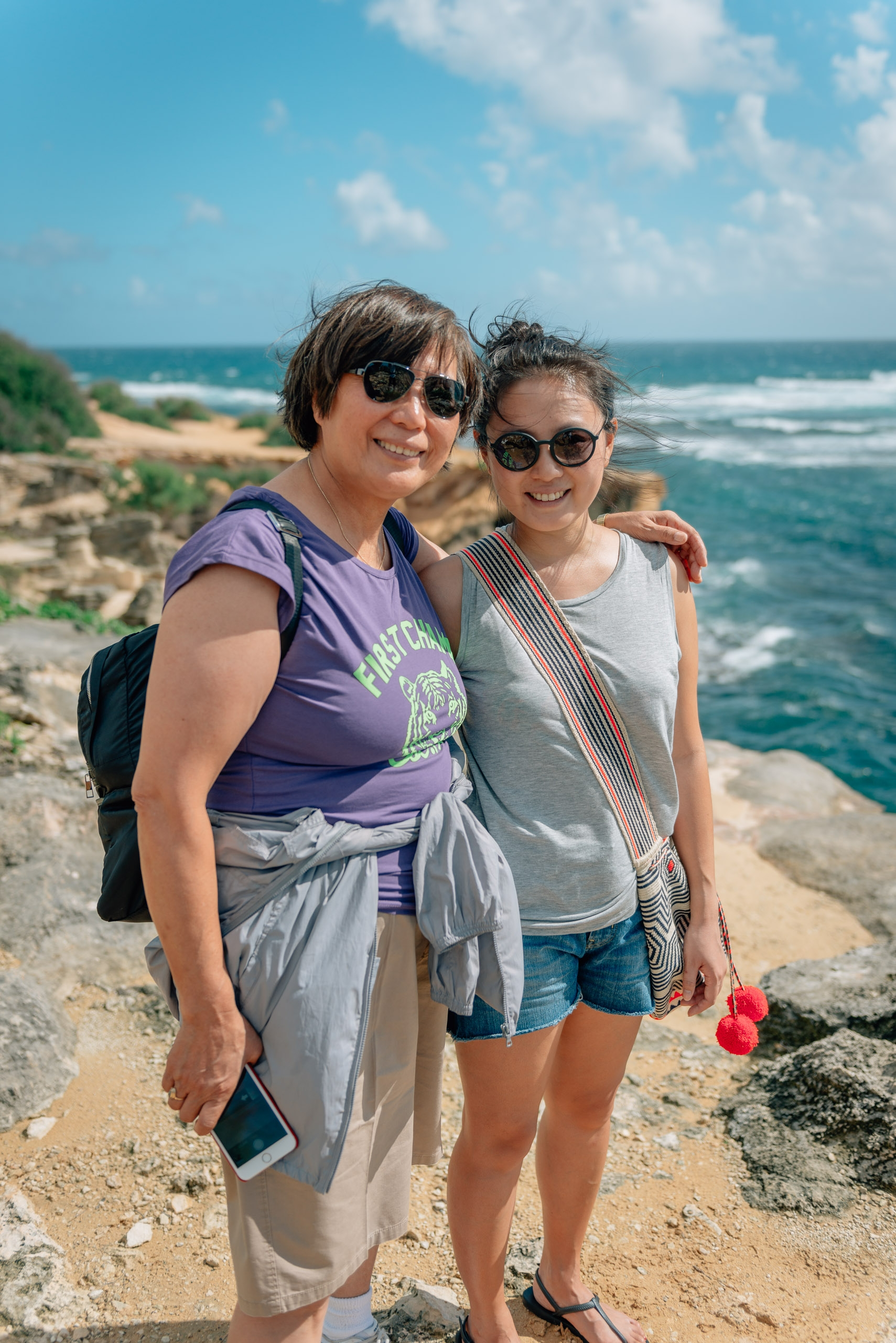 Debora and Jessica on the Poipu Coast