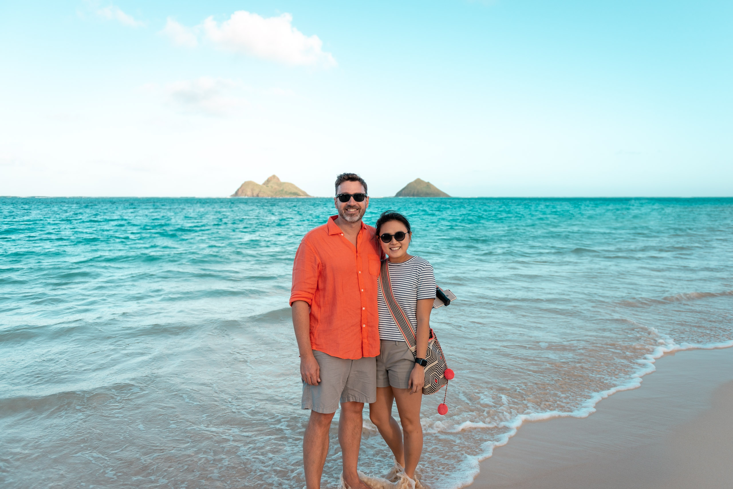 Kris and Jessica on Lanikai Beach