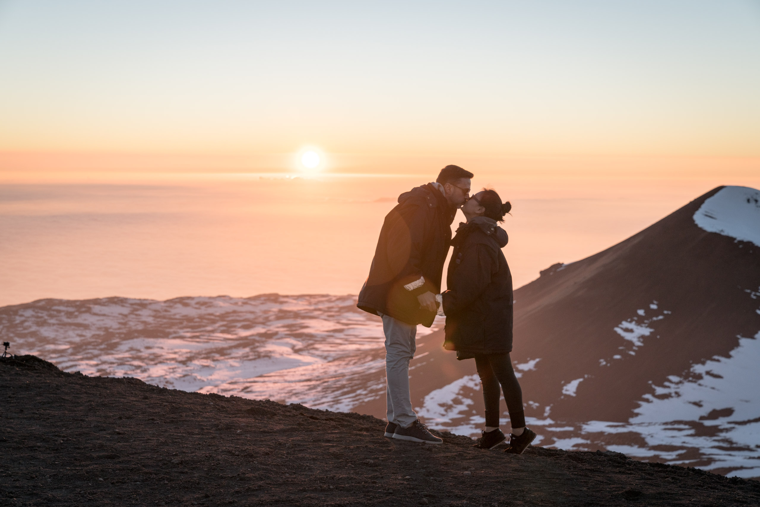 A Sunset Kiss atop Mauna Kea