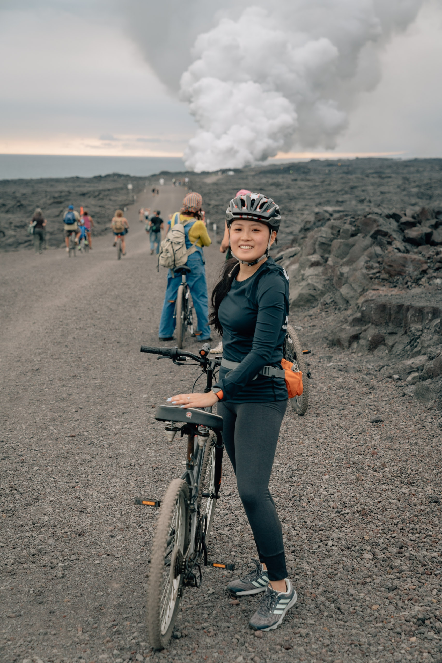 Biking to See the Volcano 2