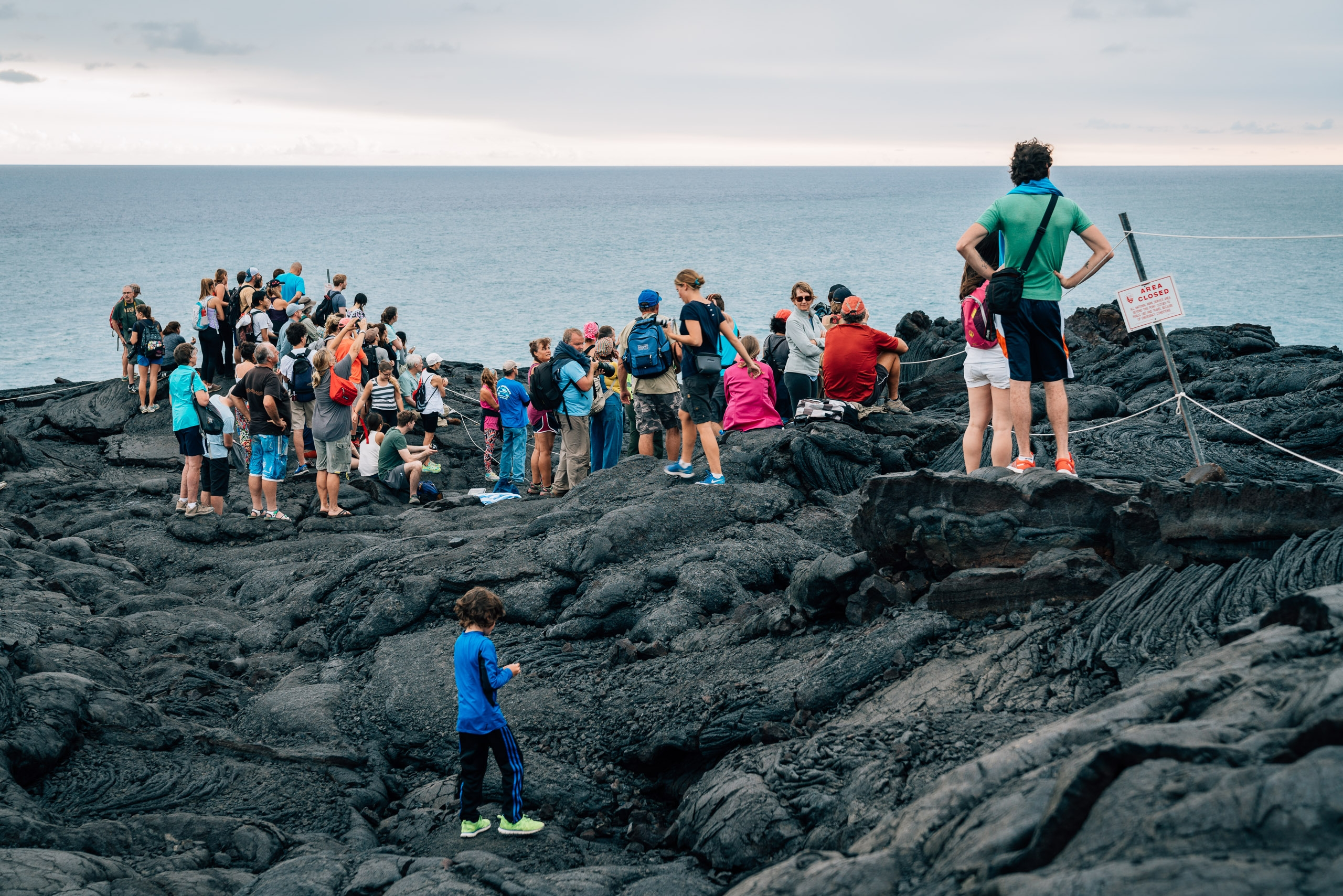 Crowds Gather for Volcano Watching