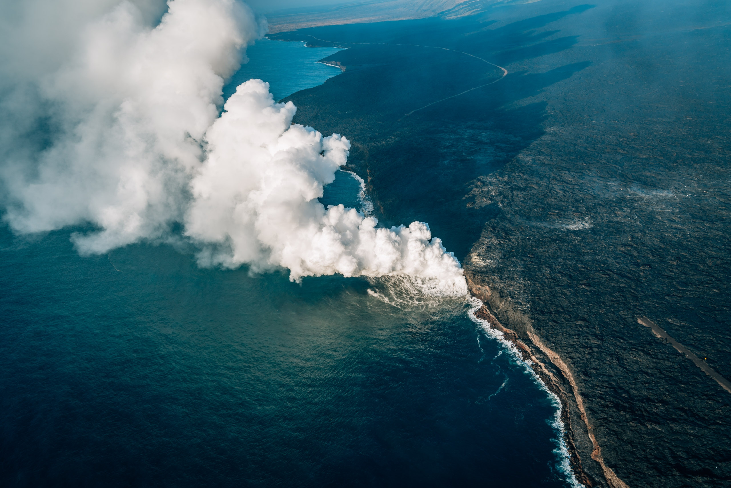 The Lava Entering the Sea 3